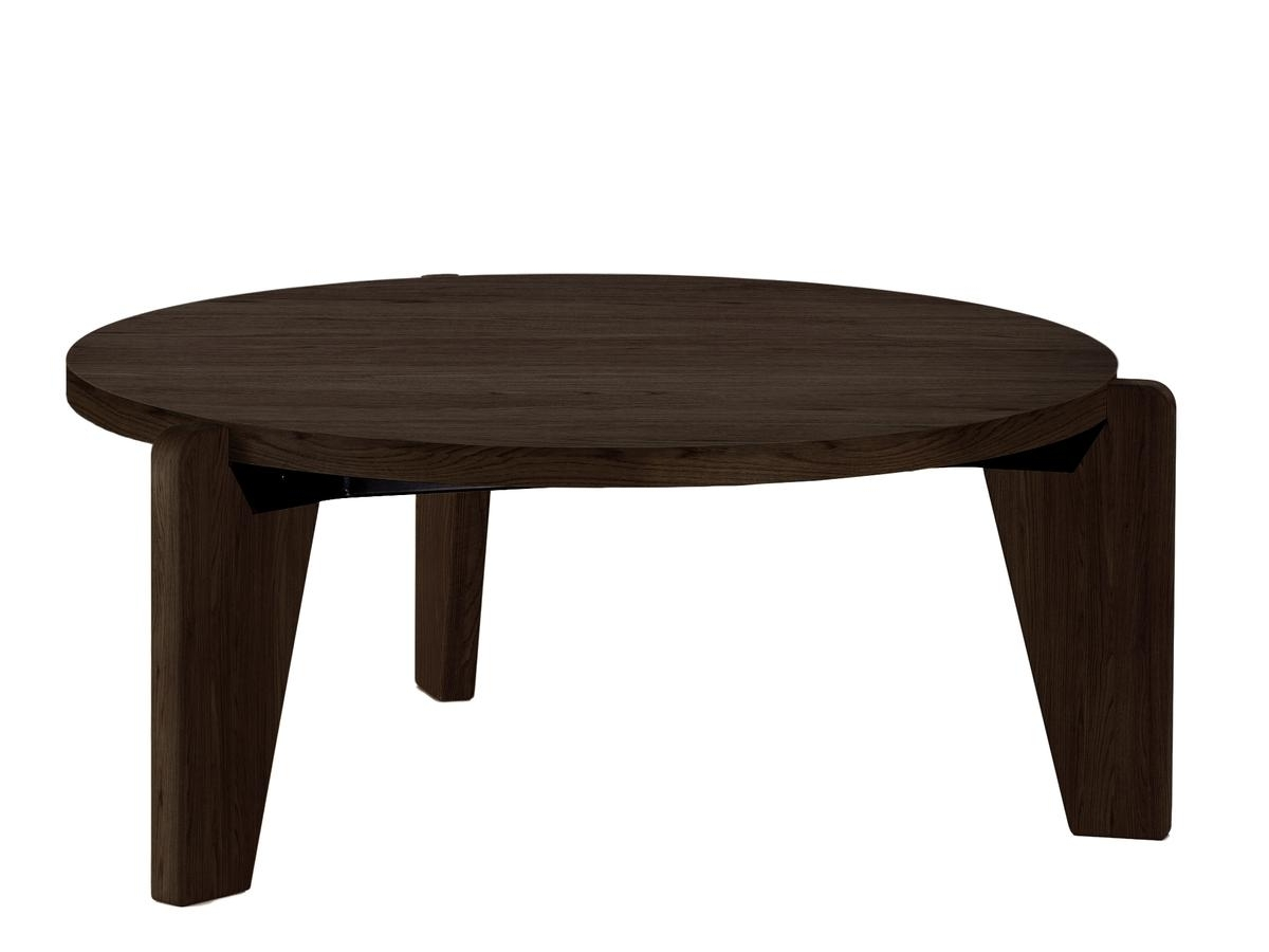 Vitra Guéridon Bas, Smoked Oak Solid Wood, Oiledjean Prouvé In 2018 Smoked Oak Coffee Tables (Gallery 19 of 20)