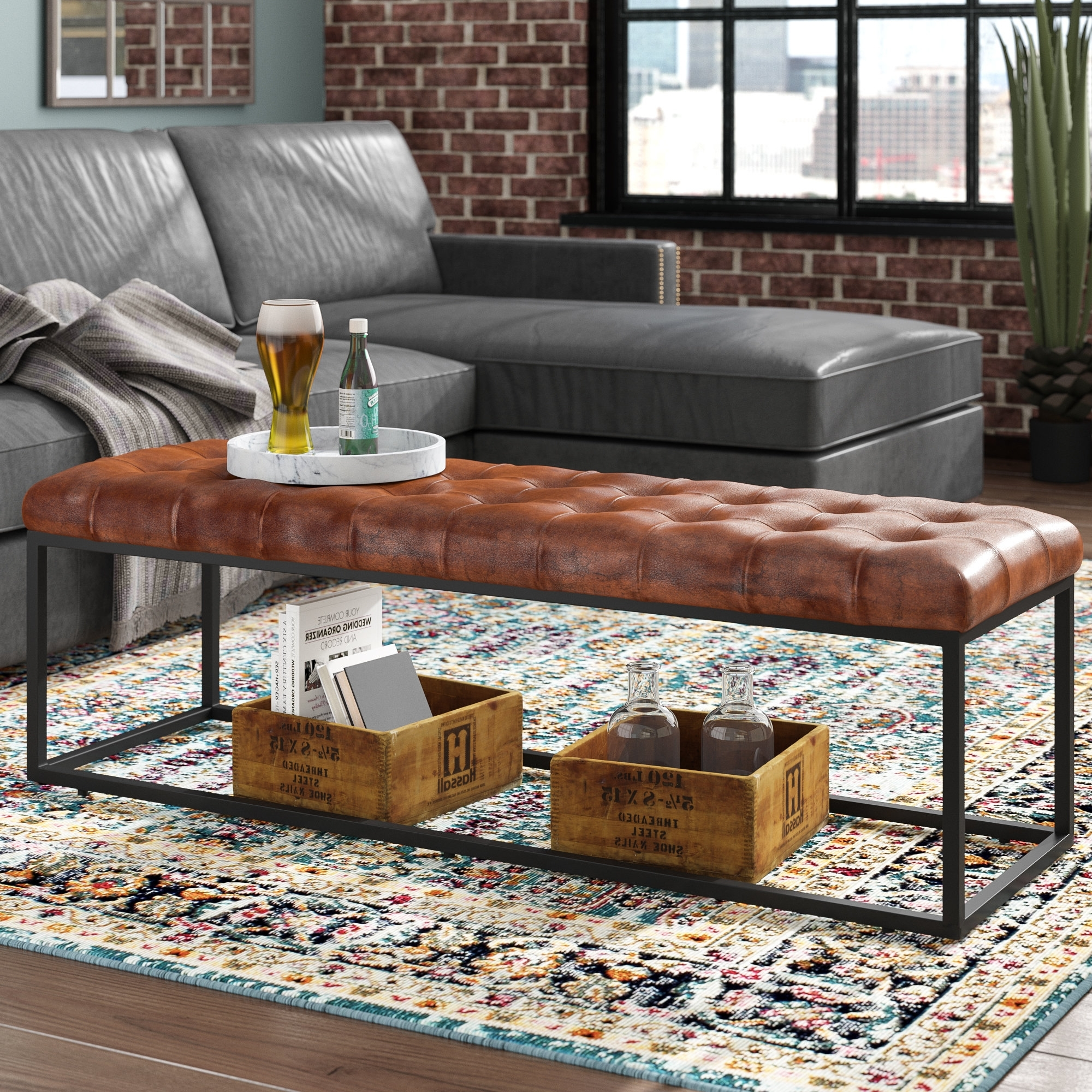 Wayfair Inside Preferred Mill Large Leather Coffee Tables (View 15 of 20)