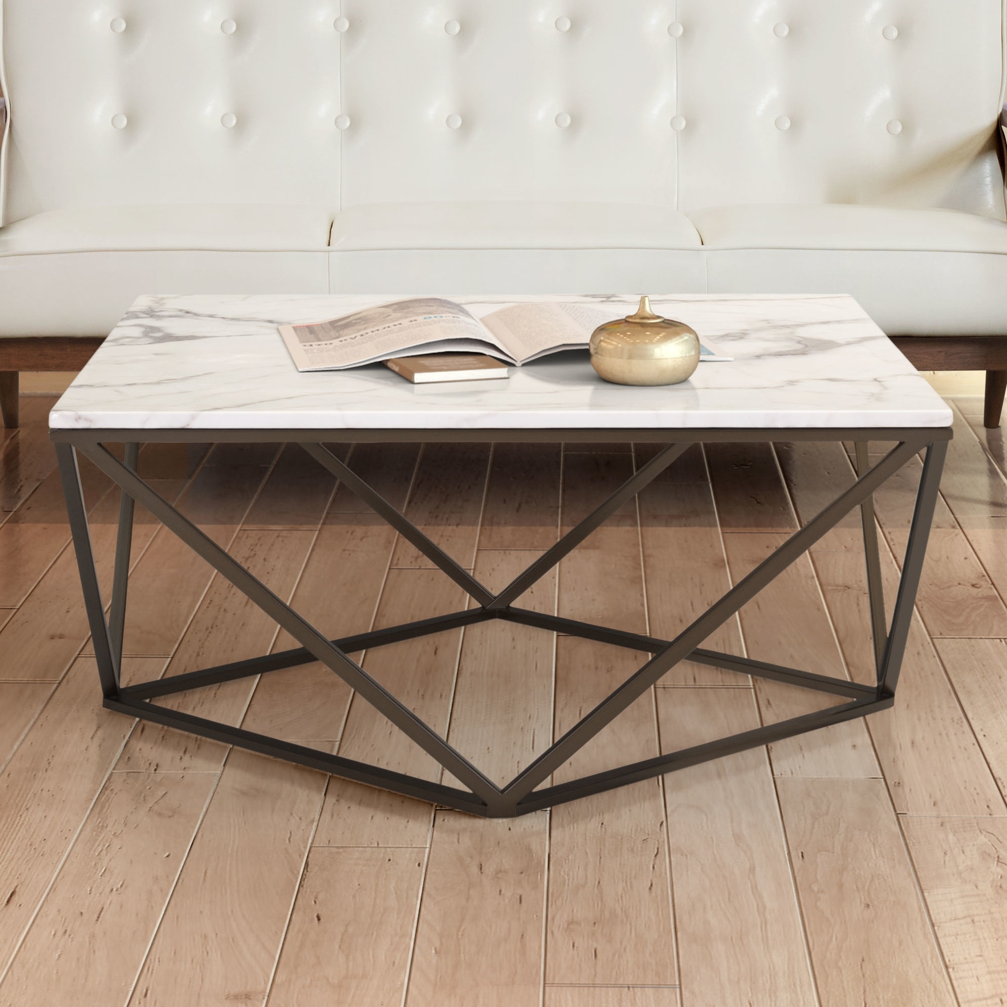 Wayfair Throughout Popular 2 Tone Grey And White Marble Coffee Tables (View 9 of 20)