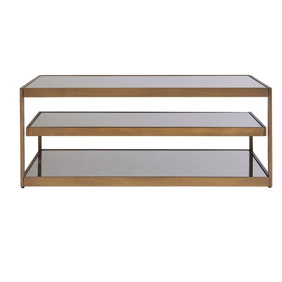 Well Known Acrylic Glass And Brass Coffee Tables In Acrylic And Brass Coffee Table Large Glass And Metal Coffee Table (View 17 of 20)