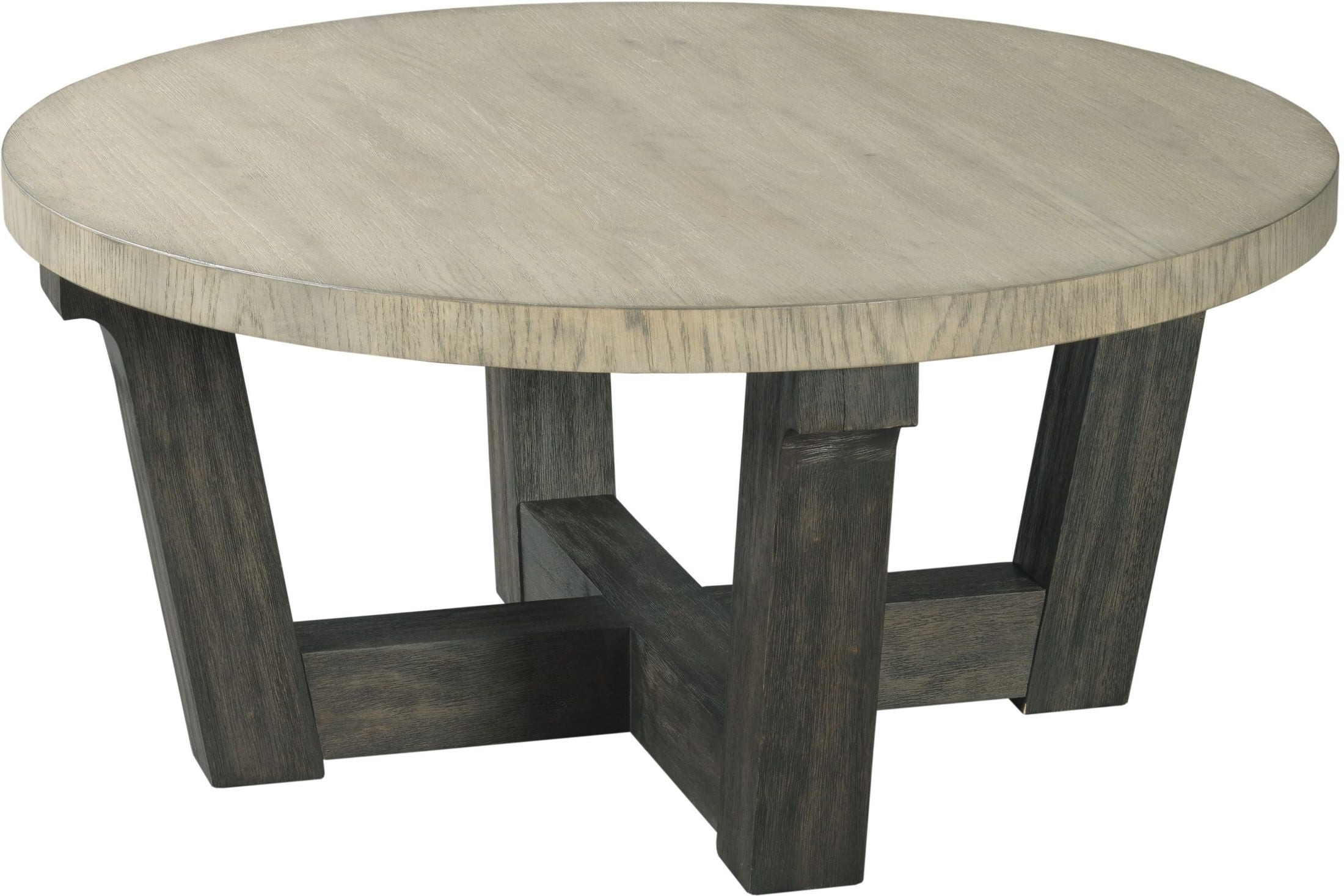 Well Known Blanton Round Cocktail Tables With Regard To The Beckham Dark Sable Base Round Cocktail Table From Hammary (View 13 of 20)
