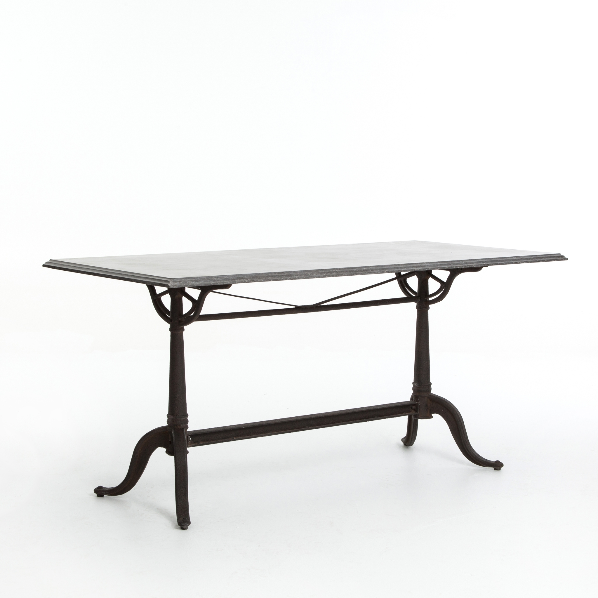 "Well Known Bluestone Rustic Black Coffee Tables Throughout 64"" L Orson Dining Table Iron Bluestone Rustic Brown Spectacular (View 19 of 20)"
