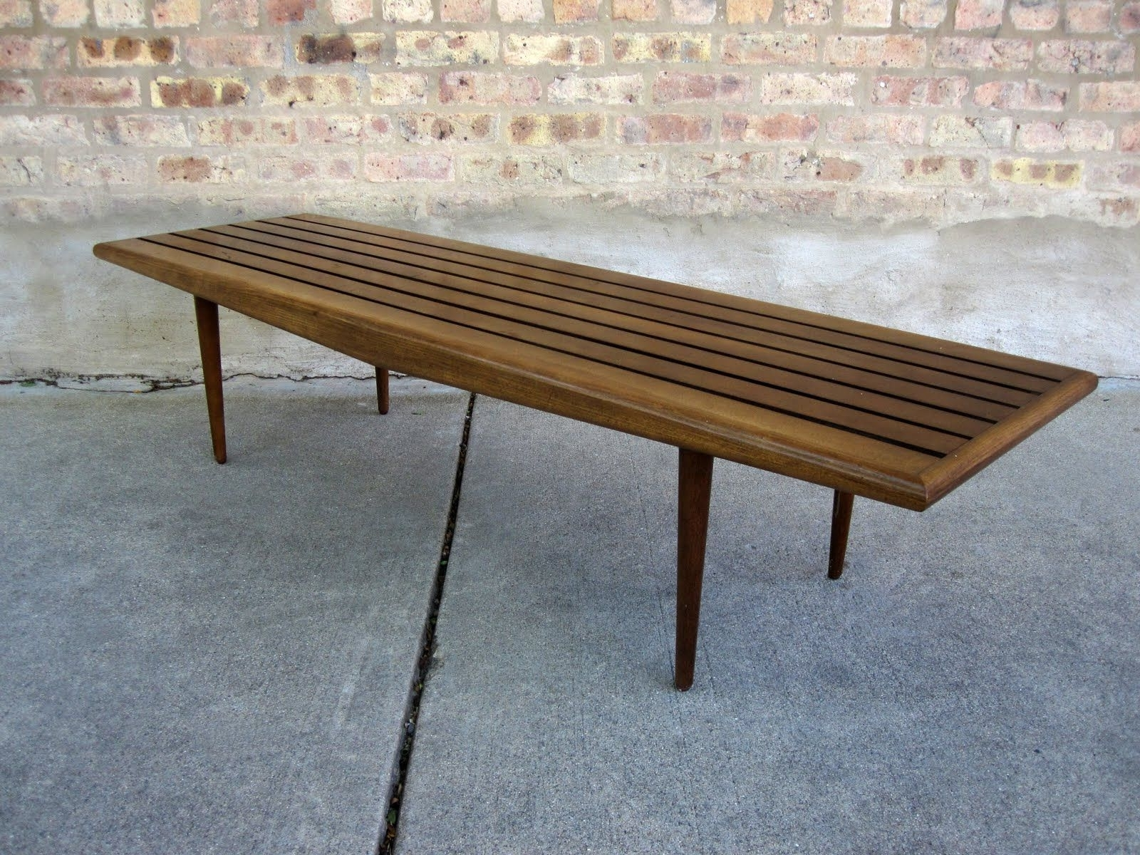 Well Known Cody Expandable Cocktail Tables Pertaining To Circa Midcentury: 'danish Modern' Slat Bench / Coffee Table (Want (View 20 of 20)