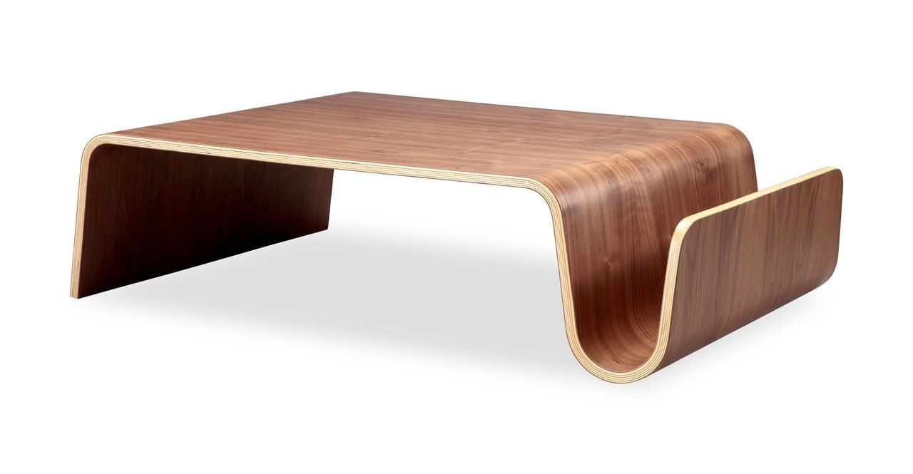 Well Known Contemporary Curves Coffee Tables Throughout Awesome Mid Century Modern Coffee Table With Solid Wood Handmade (View 2 of 20)