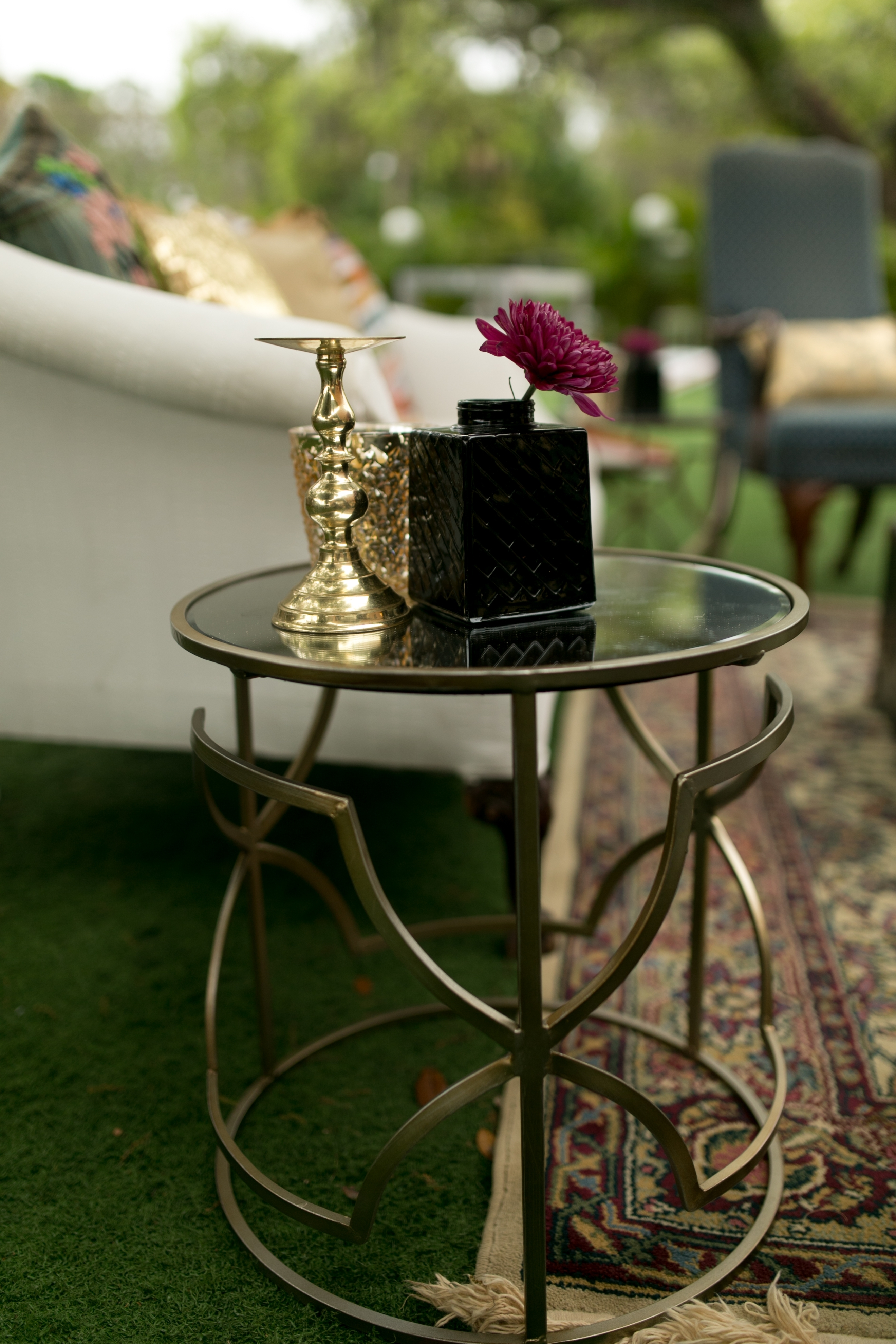Well Known Geo Faceted Coffee Tables With Champagne Geo End Table – Lrg (2)+Sm (2) (View 20 of 20)