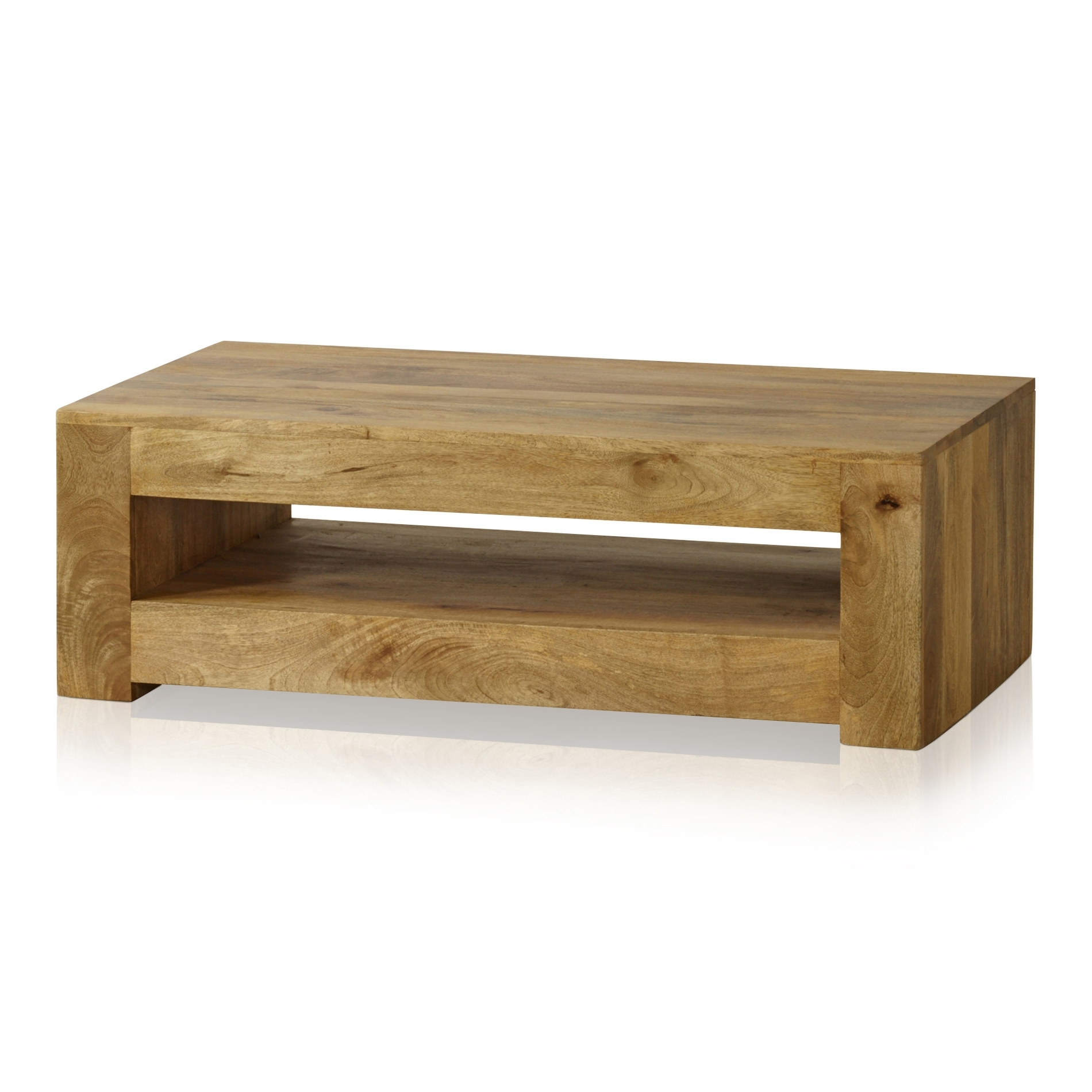 Well Known Light Natural Coffee Tables With Mantis Light Coffee Table In Solid Mango (View 11 of 20)