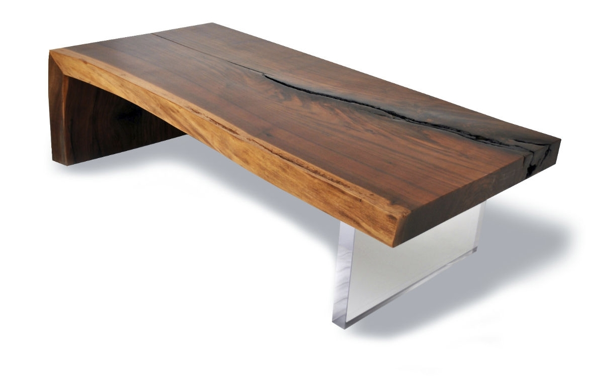 Well Known Live Edge Teak Coffee Tables Pertaining To Contemporary Coffee Table / Wooden / Rectangular / In Reclaimed (View 7 of 20)