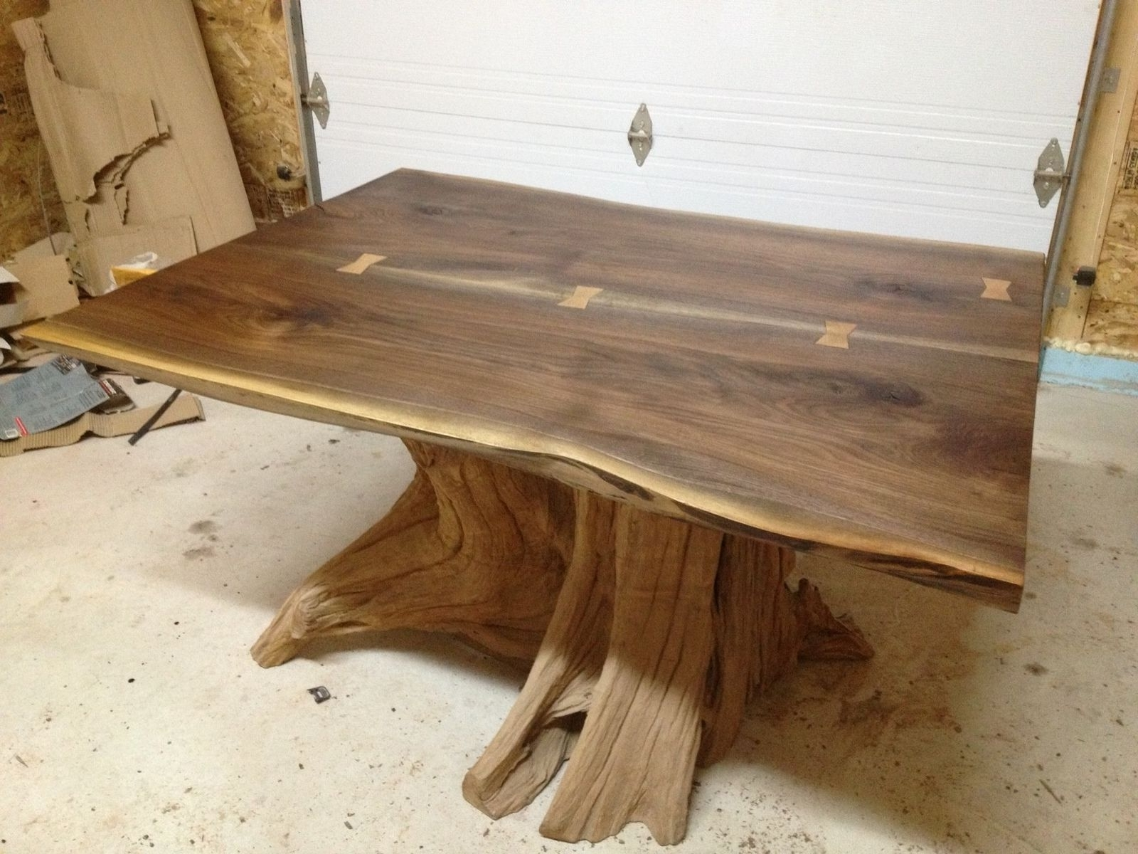 Well Known Live Edge Teak Coffee Tables Throughout Hand Made Live Edge Black Walnut Dining Room Tablebois & Design (View 10 of 20)