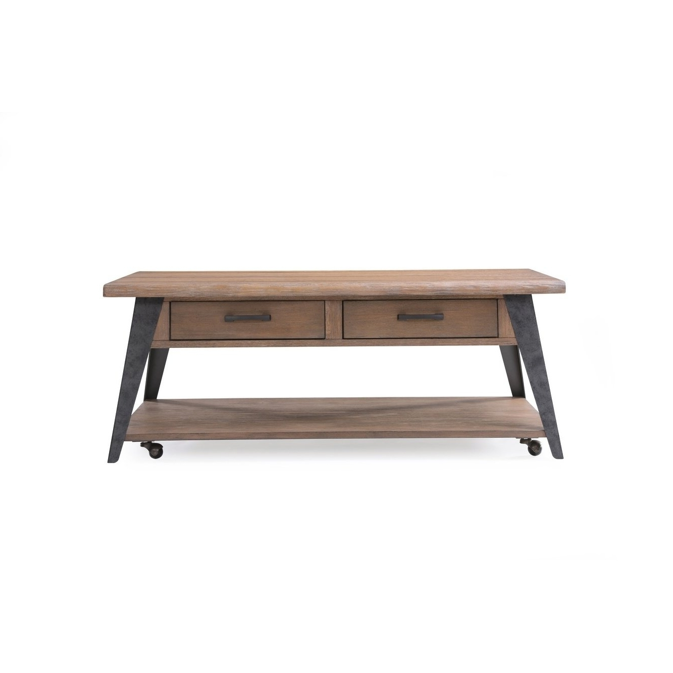 Well Known Mill Large Coffee Tables Within Shop Emerald Home Harper's Mill Weathered Tan Coffee Table – Free (View 11 of 20)