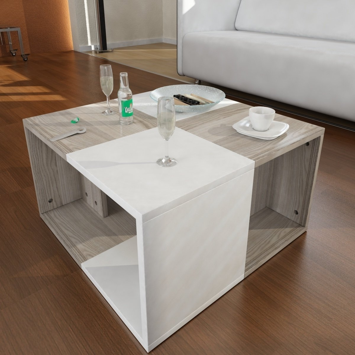 Well Known Minimalist Coffee Tables Within Shop Modern Minimalist Chestnut 23 Inch X 13 Inch X 23 Inch Coffee (View 18 of 20)
