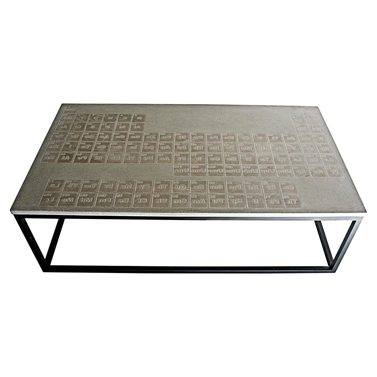 Well Known Rectangular Barbox Coffee Tables Within Sculpted Steel Patinated Coffee Table For Sale At 1stdibs (View 9 of 20)