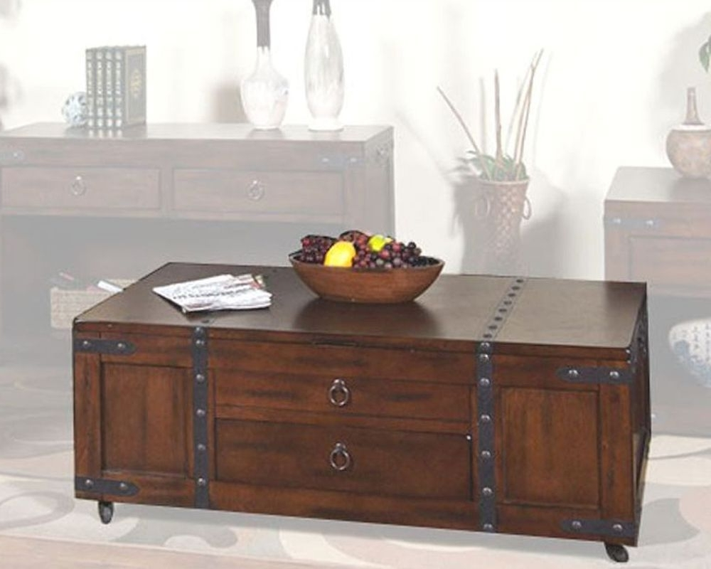 Well Known Santa Fe Coffee Tables Throughout Sunny Designs Santa Fe Coffee Table With Lift Top Su 3211Dc C (View 18 of 20)