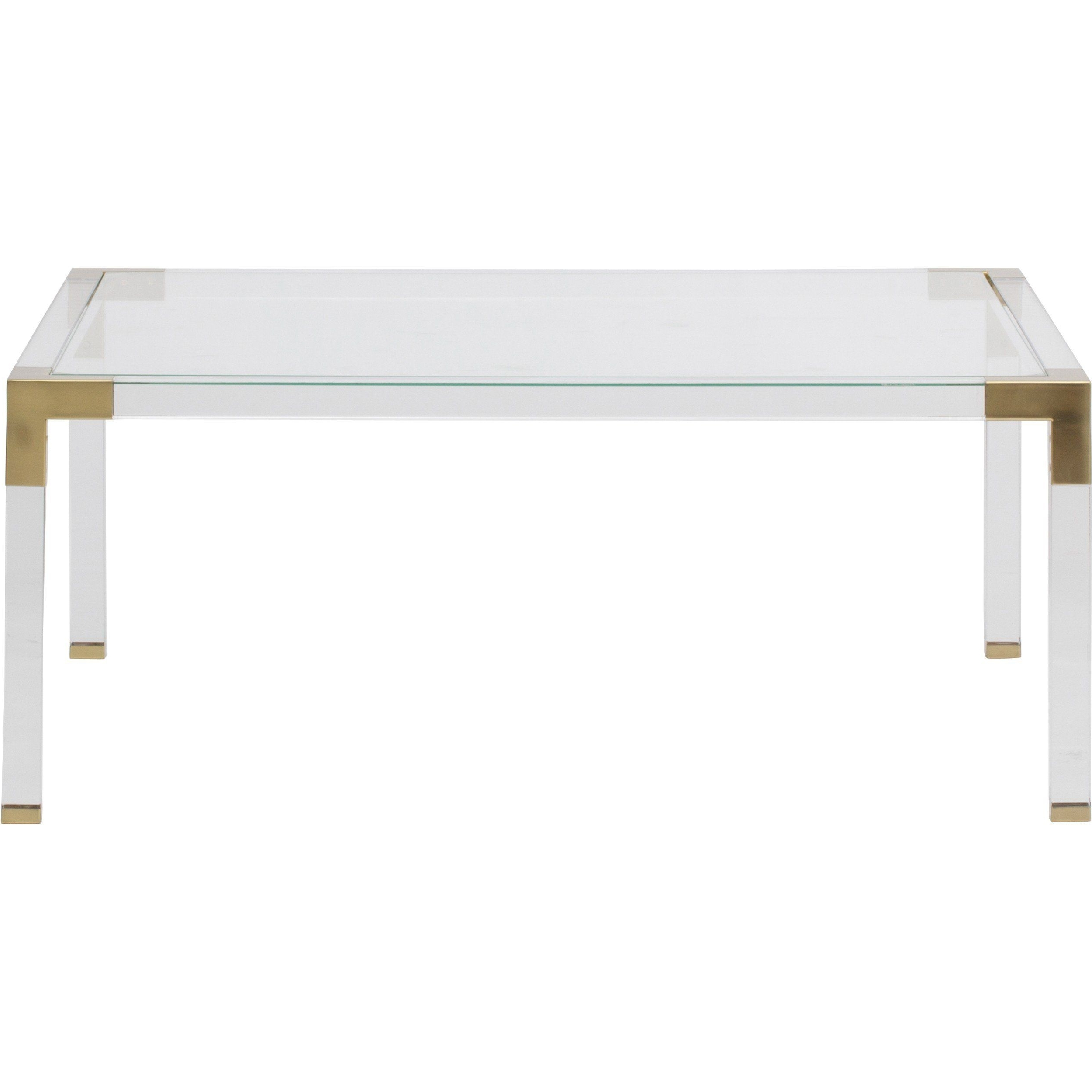 Well Known Slab Large Marble Coffee Tables With Brass Base Within Maci Acrylic Coffee Table (View 16 of 20)