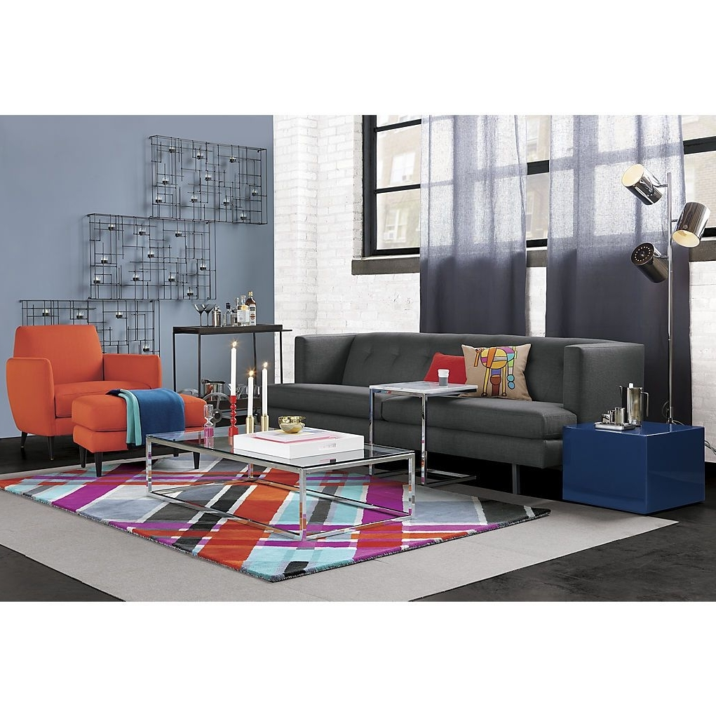 Well Known Smart Glass Top Coffee Tables Within Cb2: Avec Carbon Sofa, Smart Glass Top Coffee Table, Modern Plaid (View 18 of 20)