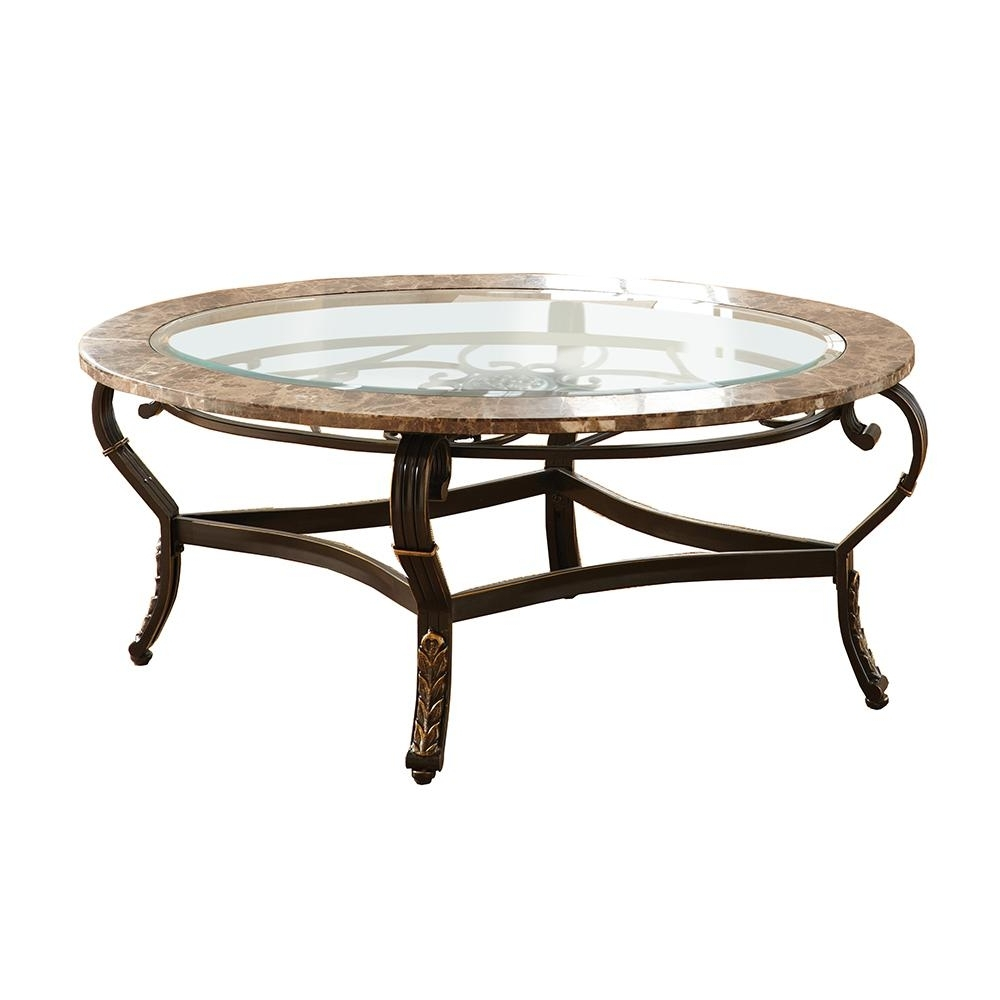 Well Known Spanish Coffee Tables Intended For Gallinari Spanish Brown Marble Cocktail Table Gn300c – The Home Depot (View 17 of 20)