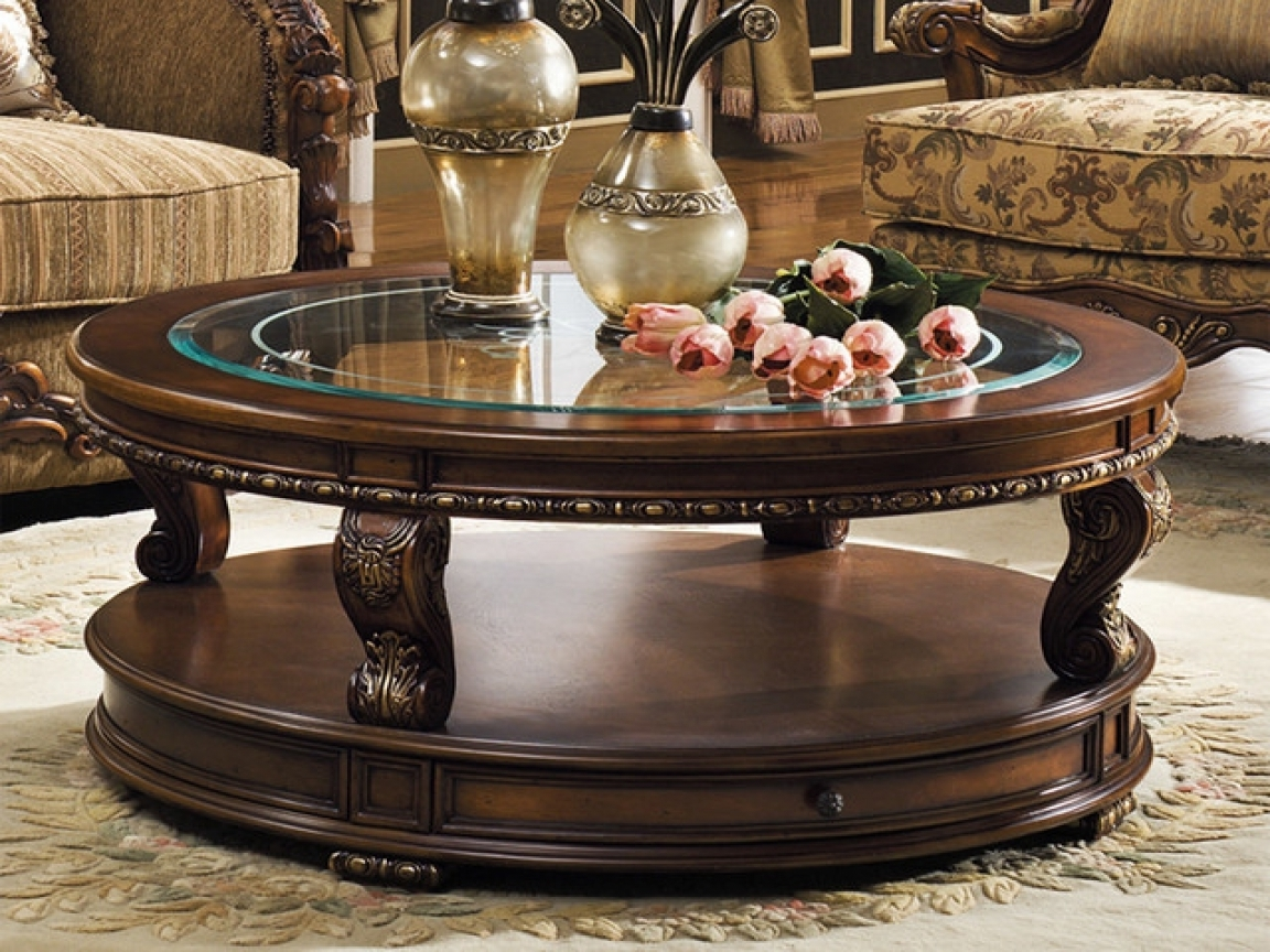 Well Known Traditional Coffee Tables Regarding Traditional Coffee Table Sets Round – Thelightlaughed (View 10 of 20)