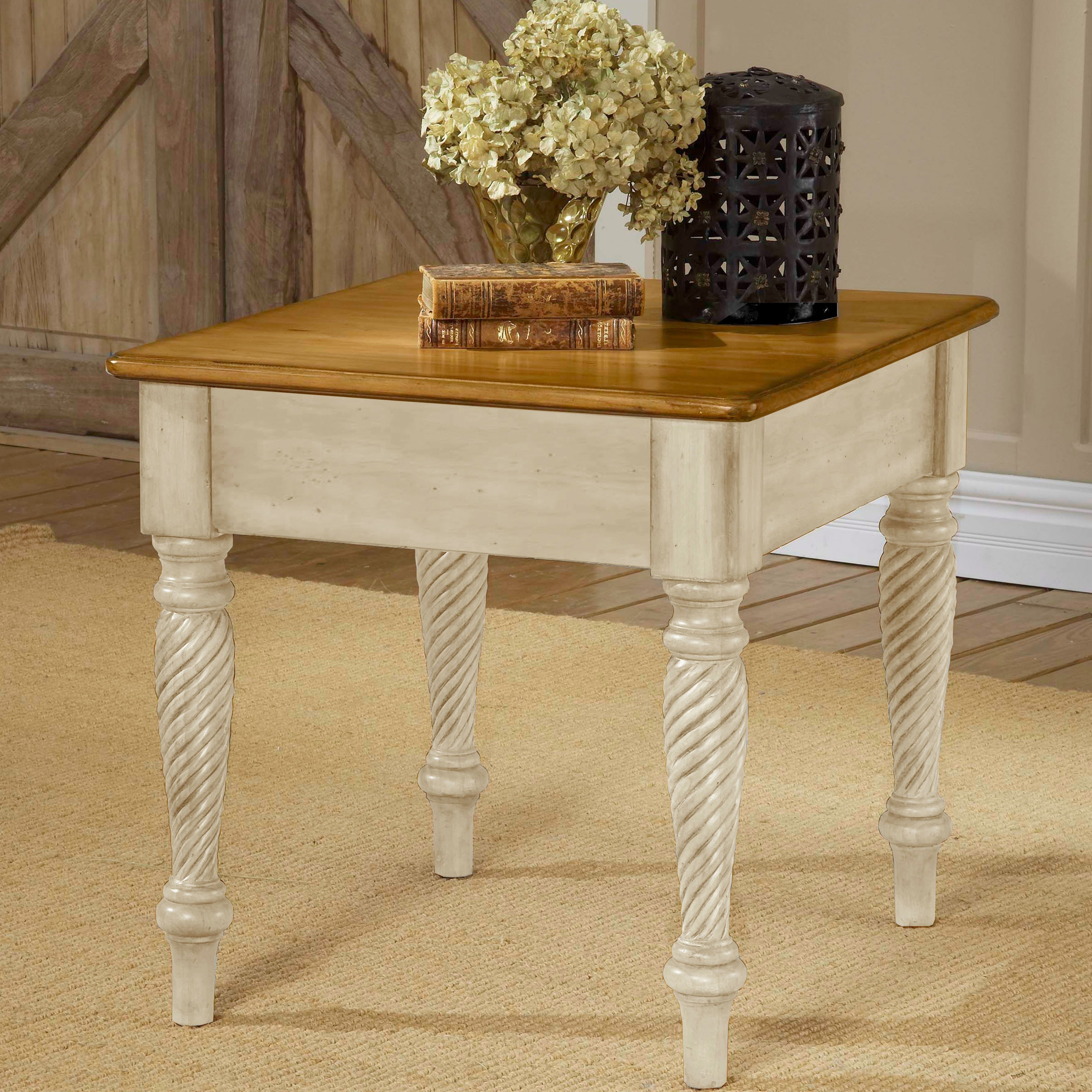 Well Known Wilshire Cocktail Tables For Hillsdale Furniture Wilshire Antique White End Table – Free Shipping (View 13 of 20)