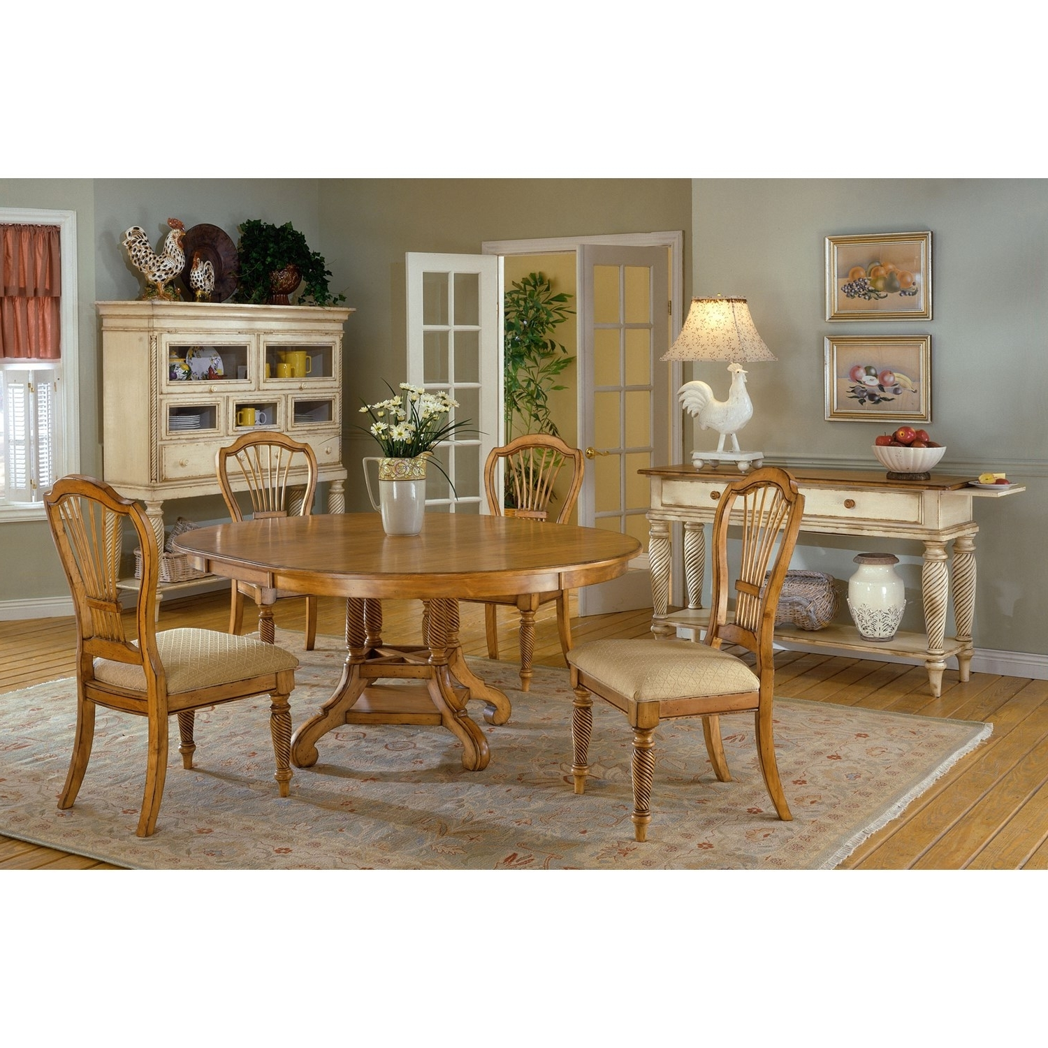 Well Known Wilshire Cocktail Tables Regarding Hillsdale Furniture Wilshire Pine Round/oval Dining Table (View 17 of 20)