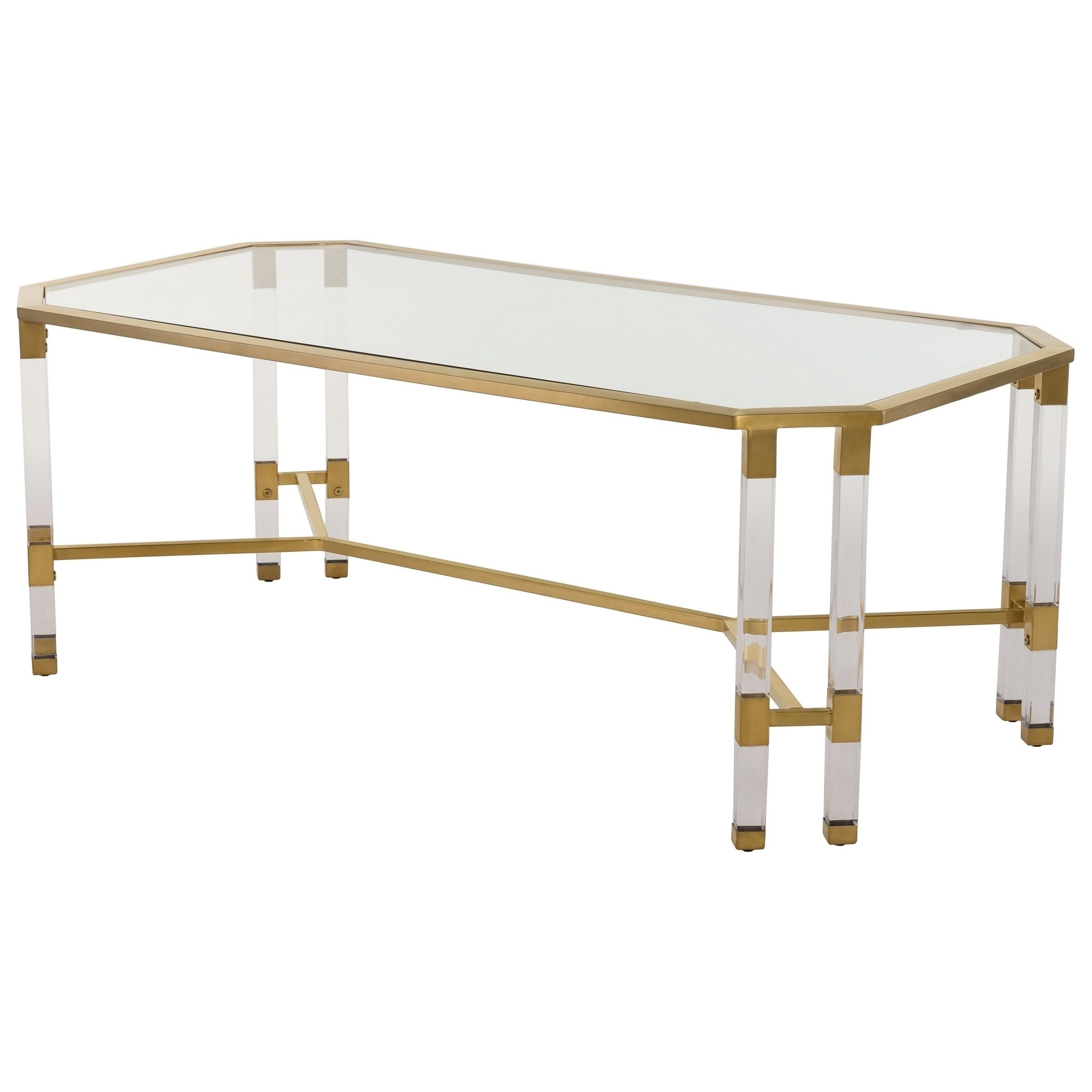Well Liked Acrylic & Brushed Brass Coffee Tables Pertaining To Safavieh Couture High Line Collection Chandon Bronze Brass Acrylic (View 18 of 20)