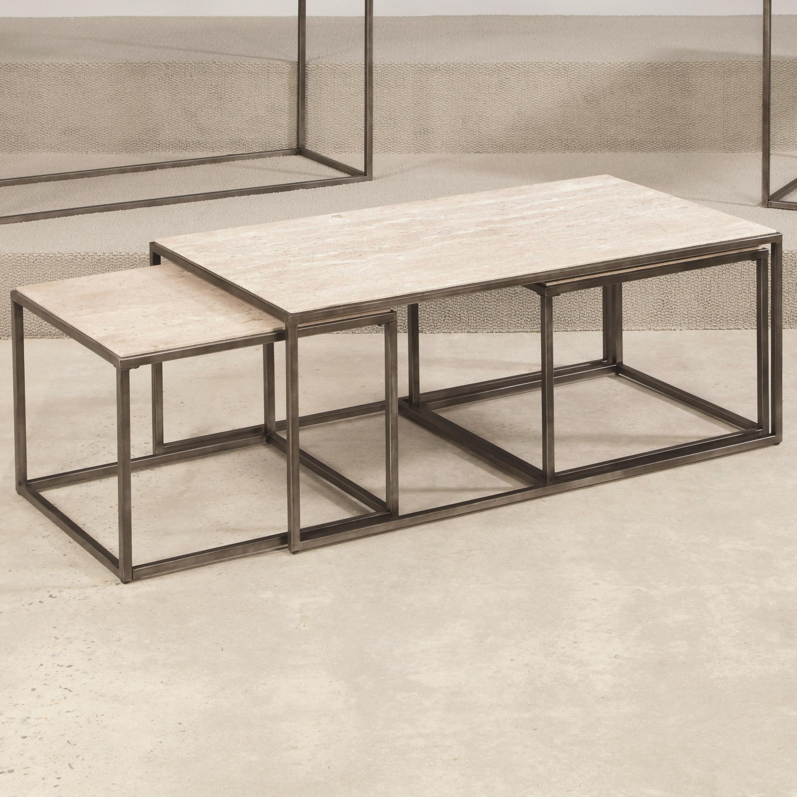Well Liked Elba Cocktail Tables For Hammary Modern Basics Rectangular Cocktail Table With Bronze With (View 18 of 20)