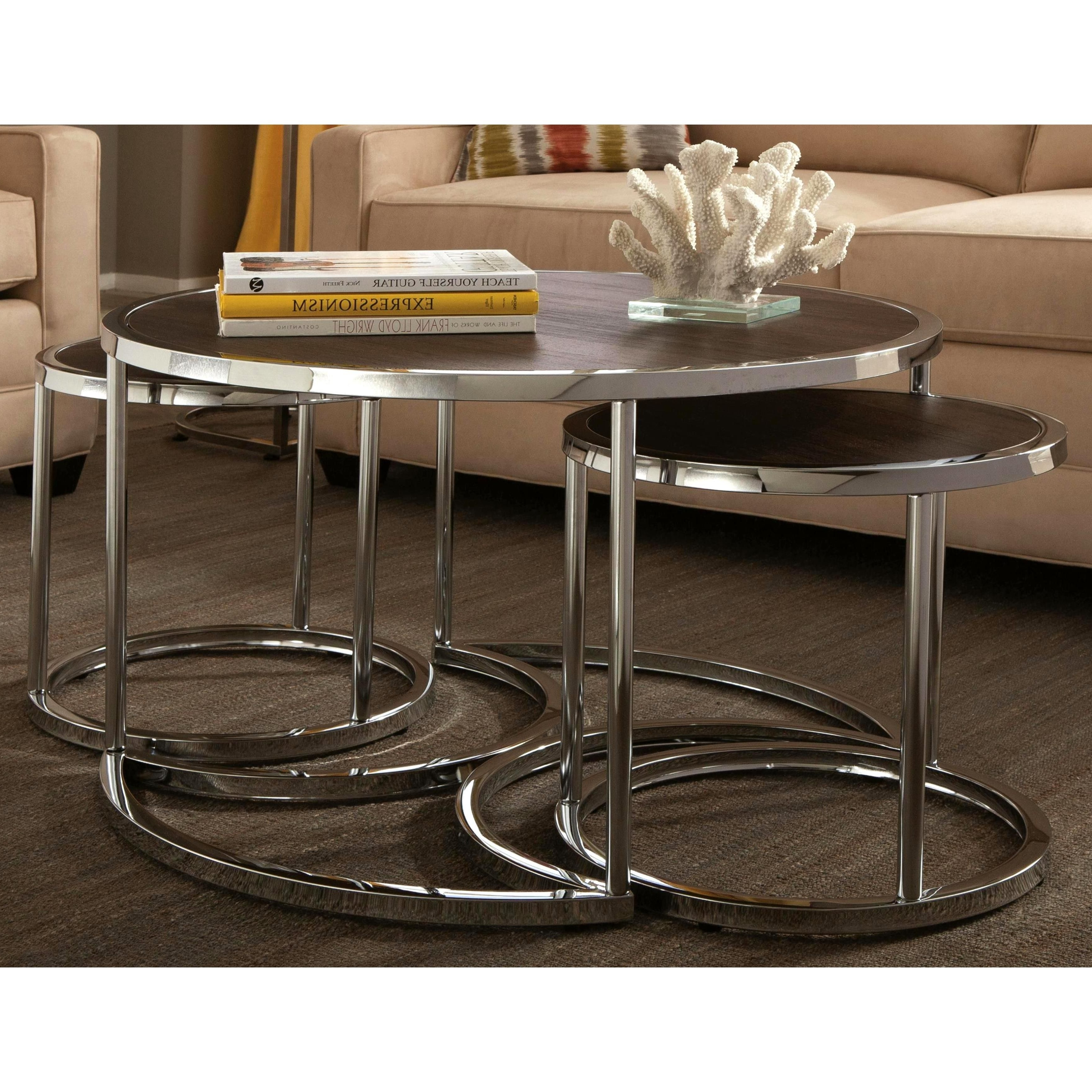 Well Liked Expressionist Coffee Tables For Tthe Chrome Base Combined With A Cappuccino Wood Top Create A Very (View 17 of 20)
