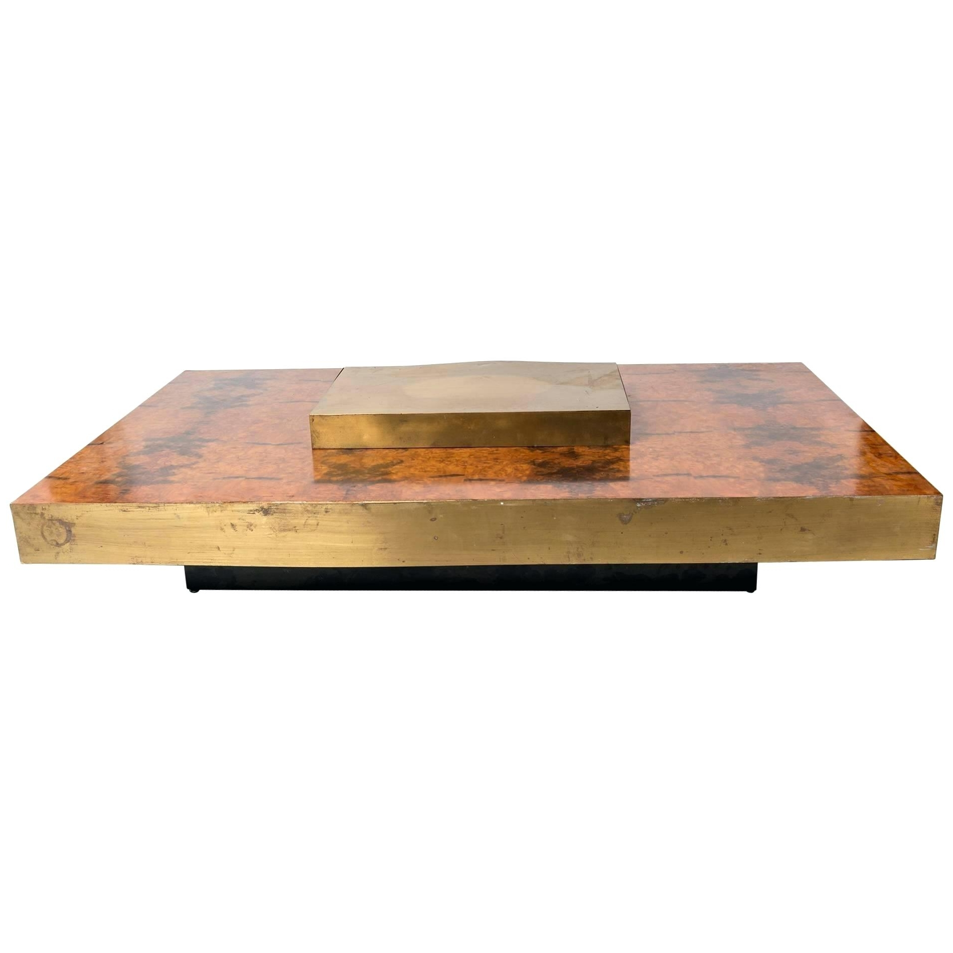 Well Liked Joni Brass And Wood Coffee Tables Within Brass And Wood Coffee Table Brass Wood Brushed Metal Coffee Table (View 19 of 20)