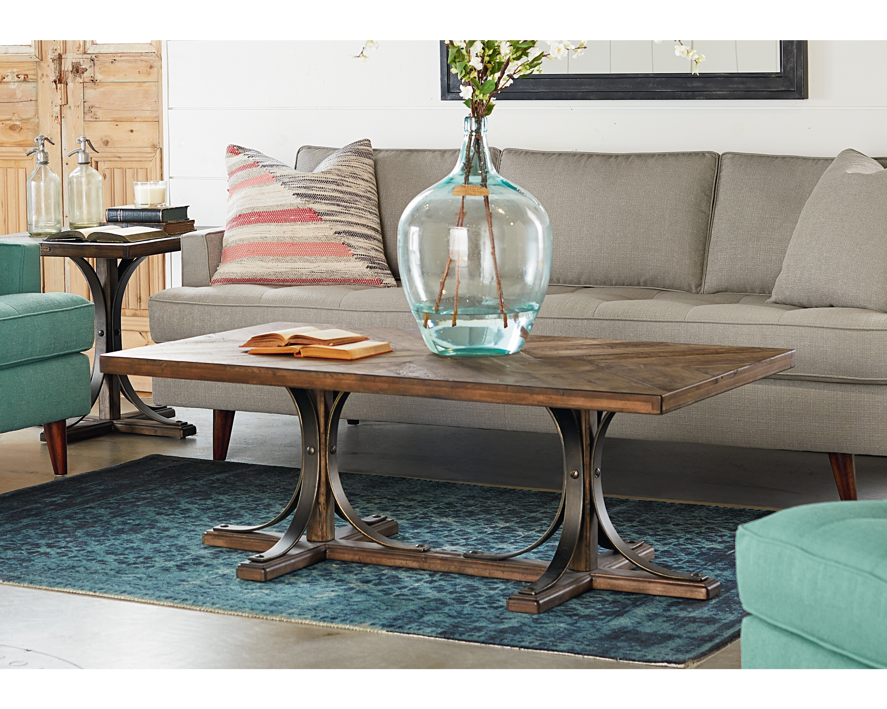 Well Liked Magnolia Home Iron Trestle Cocktail Tables With Iron Trestle Coffee Table – Magnolia Home (View 3 of 20)
