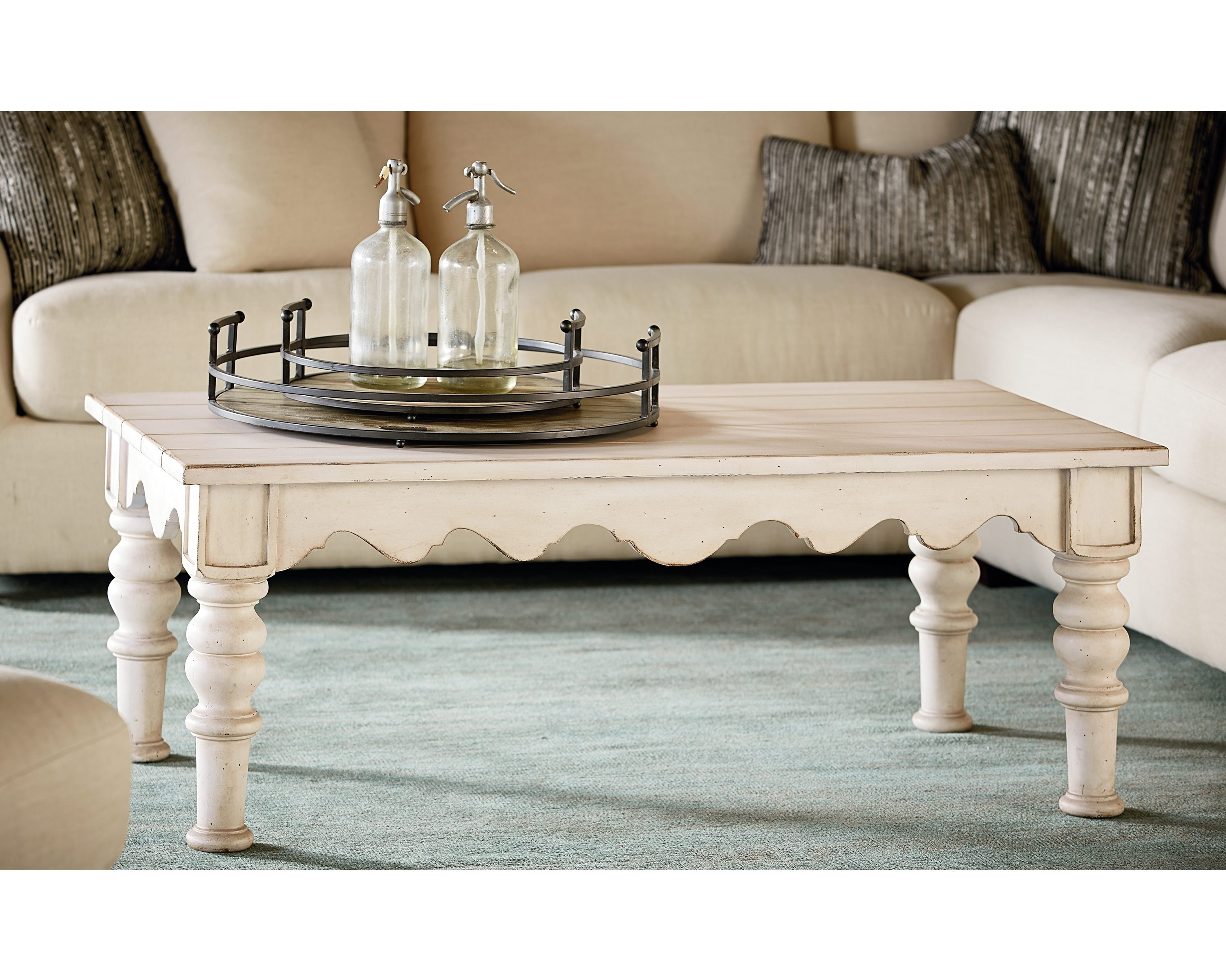 Featured Photo of Magnolia Home Scallop Antique White Cocktail Tables