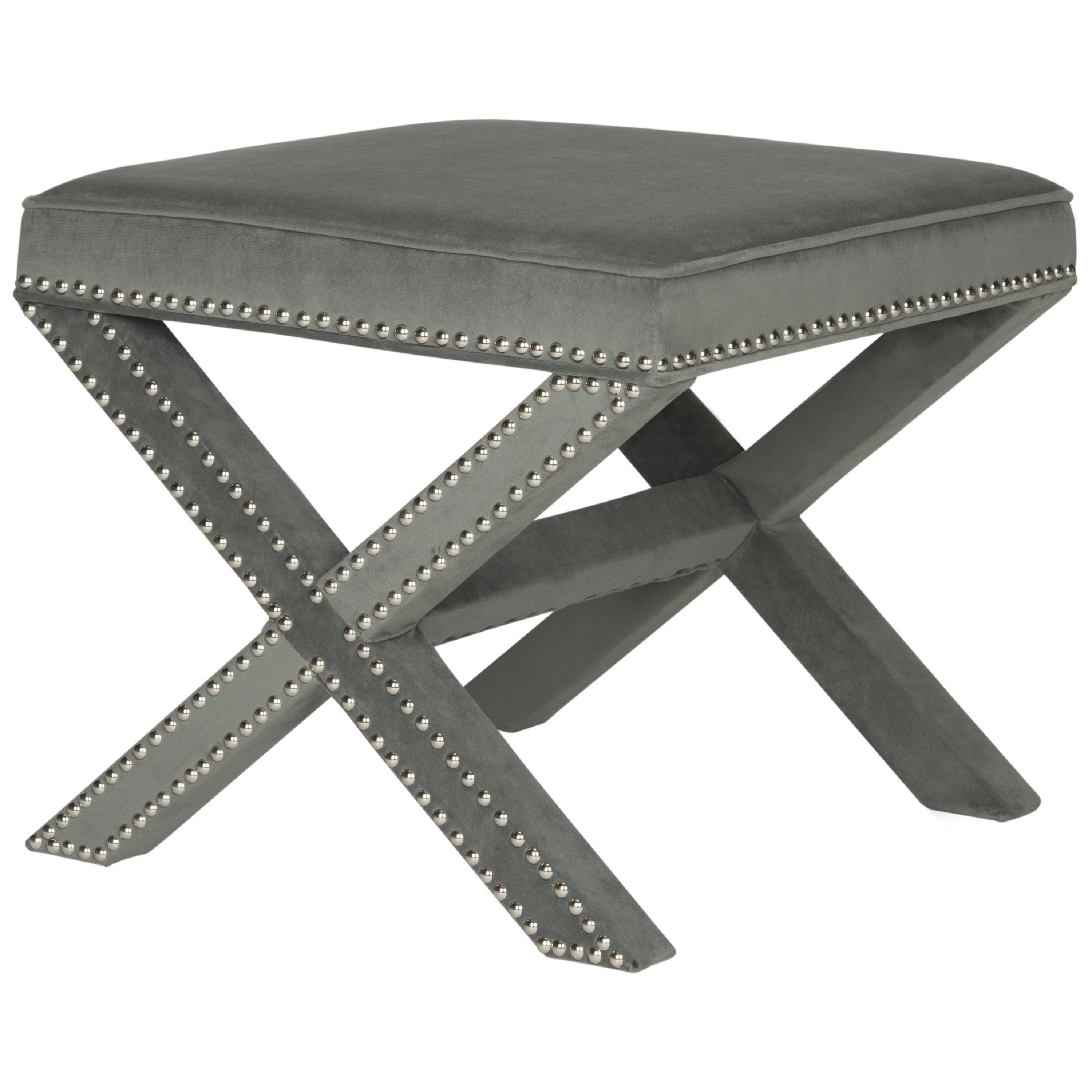 Well Liked Palmer Storage Cocktail Tables With Regard To Shop Safavieh Palmer Grey Ottoman – On Sale – Free Shipping Today (View 20 of 20)