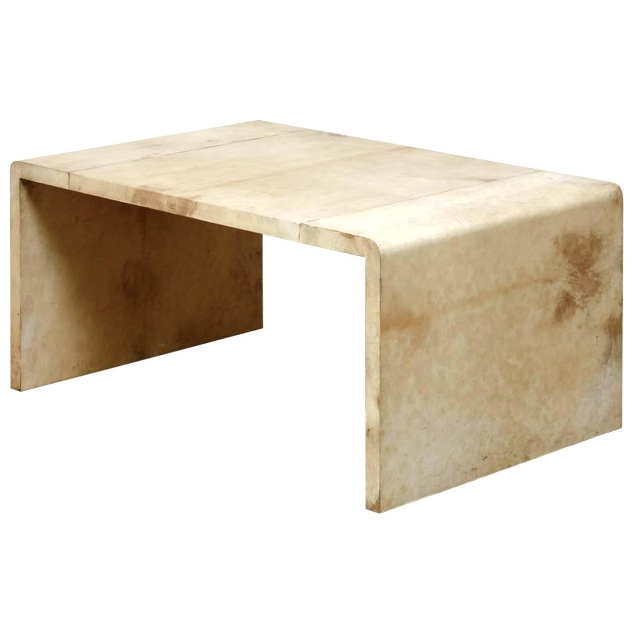 Well Liked Square Waterfall Coffee Tables In Waterfall Coffee Table Jean Frank Style Goatskin For Sale Square (View 20 of 20)