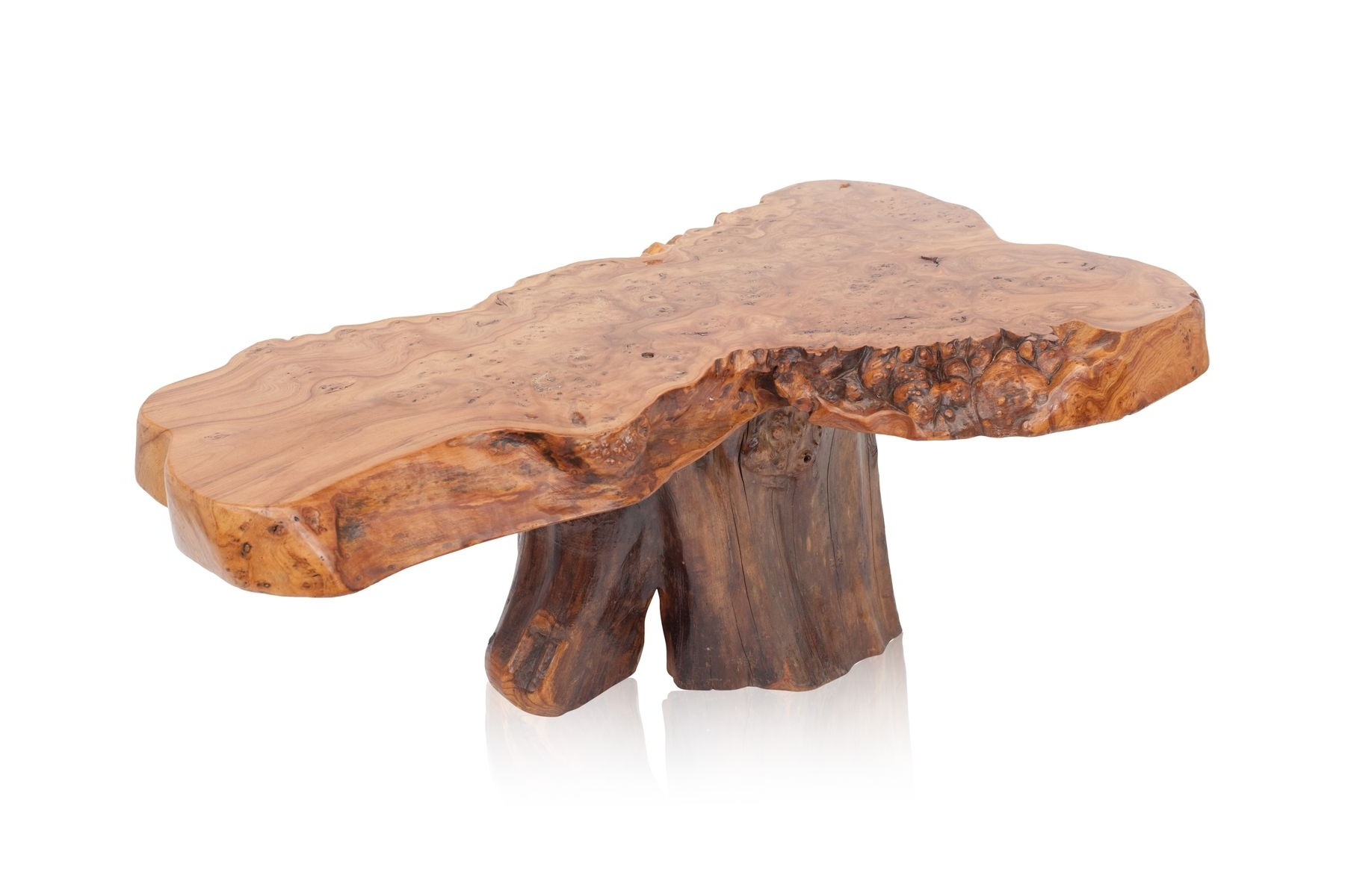 Well Liked Stack Hi Gloss Wood Coffee Tables Inside Vintage Natural Burl Wood High Gloss Coffee Table For Sale At Pamono (View 19 of 20)