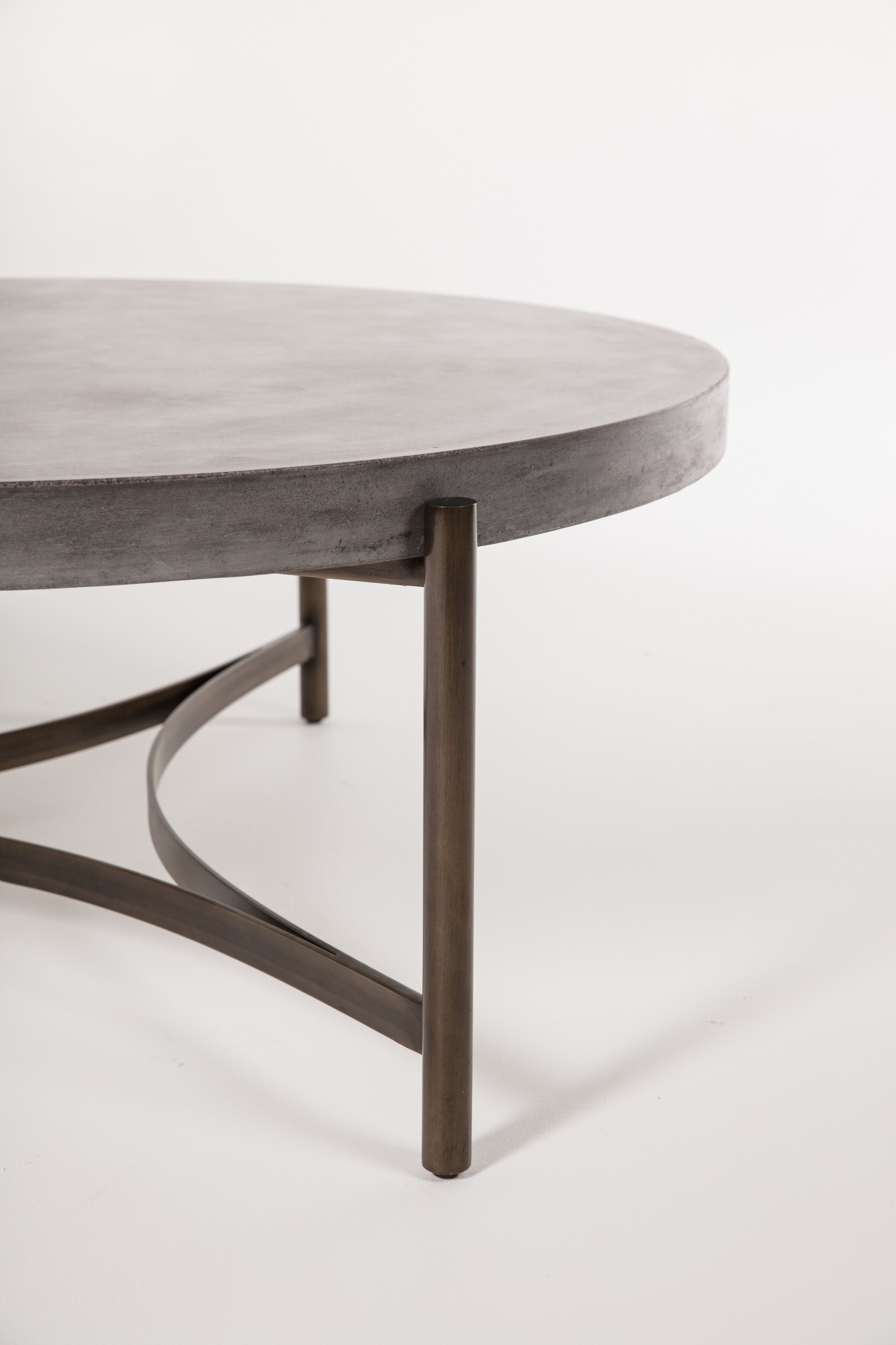Well Liked Stratus Cocktail Tables Regarding Bronze & Cement Cocktail Table (View 4 of 20)