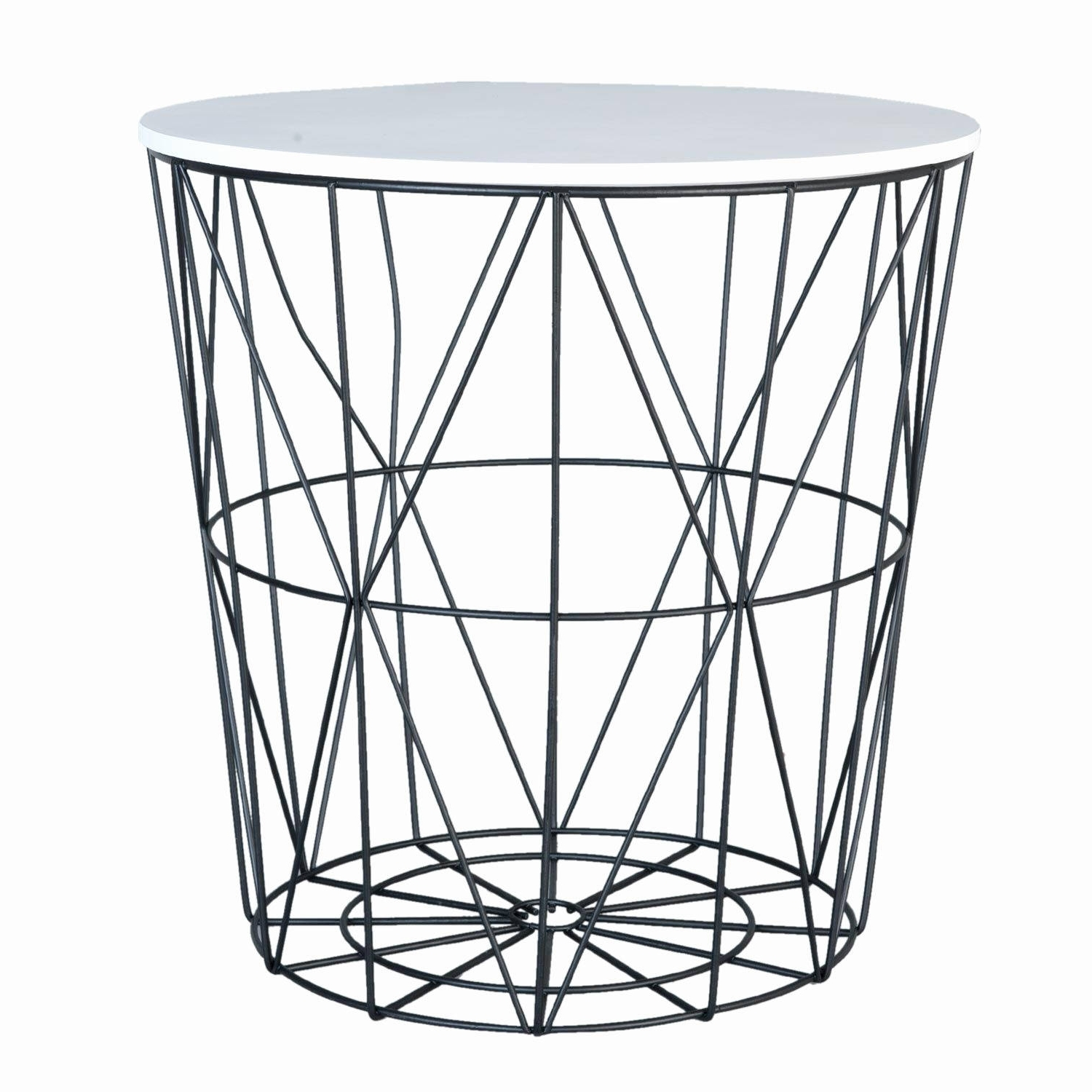 White Coffee Table Black Legs Awesome White Black Geometric Side With Widely Used Black Wire Coffee Tables (View 19 of 20)