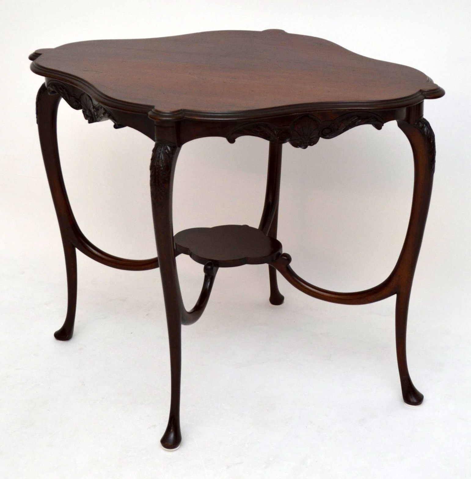 Widely Used Antiqued Art Deco Coffee Tables Inside Antique Art Nouveau Mahogany Occasional Table (View 13 of 20)