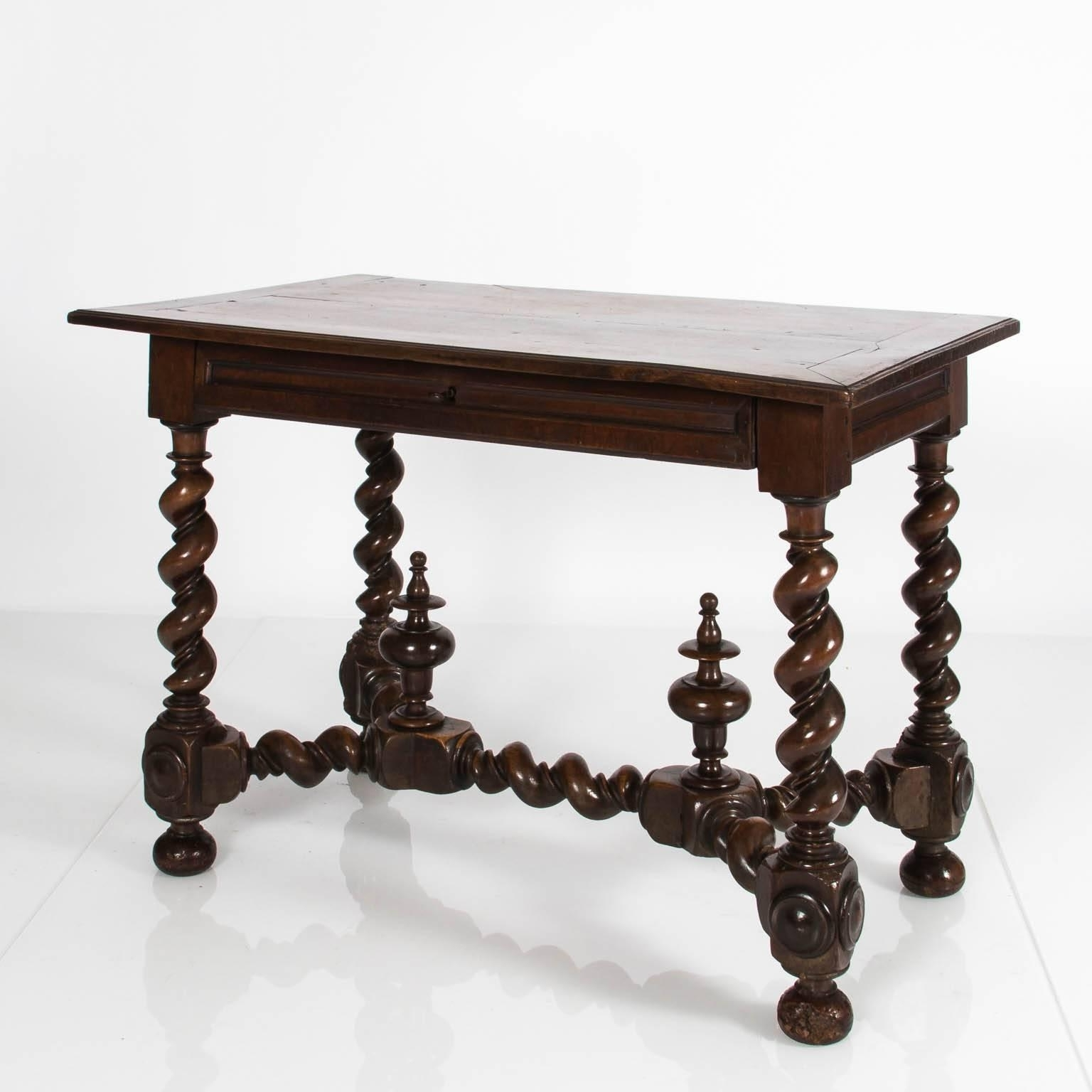 Widely Used Barley Twist Coffee Tables Intended For Jacobean Barley Twist Side Table At 1Stdibs (View 19 of 20)