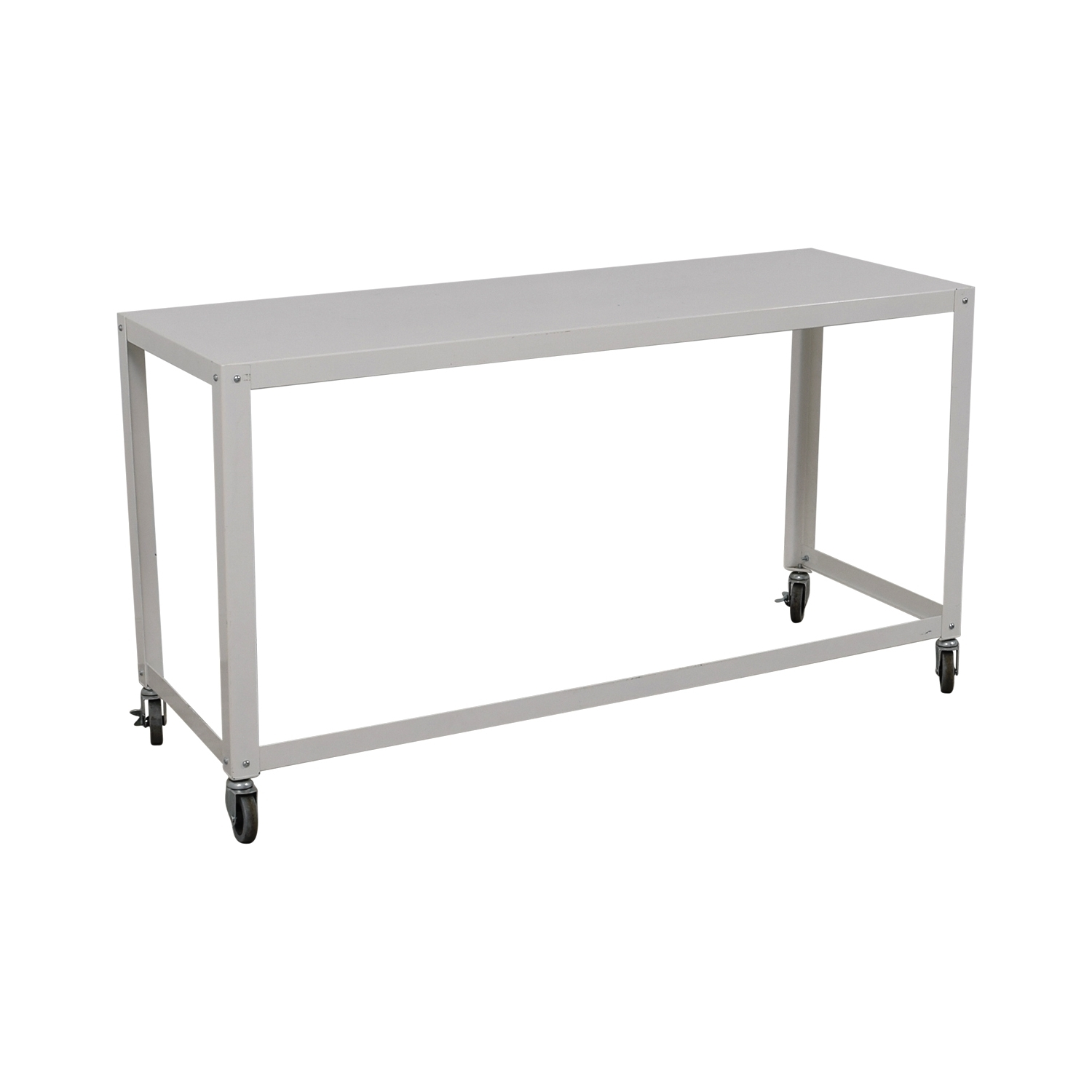 [%Widely Used Go Cart White Rolling Coffee Tables In 81% Off – Cb2 Cb2 Go Cart White Rolling Desk / Tables|81% Off – Cb2 Cb2 Go Cart White Rolling Desk / Tables Inside Latest Go Cart White Rolling Coffee Tables%] (View 4 of 20)