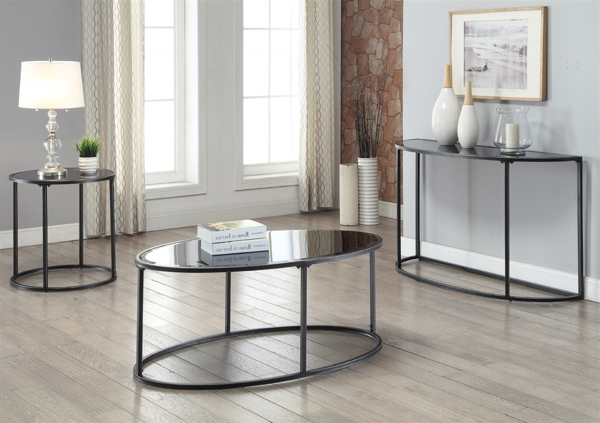 Widely Used Gunmetal Coffee Tables Inside Coaster 704398 Gunmetal Contemporary Coffee Table (View 5 of 20)