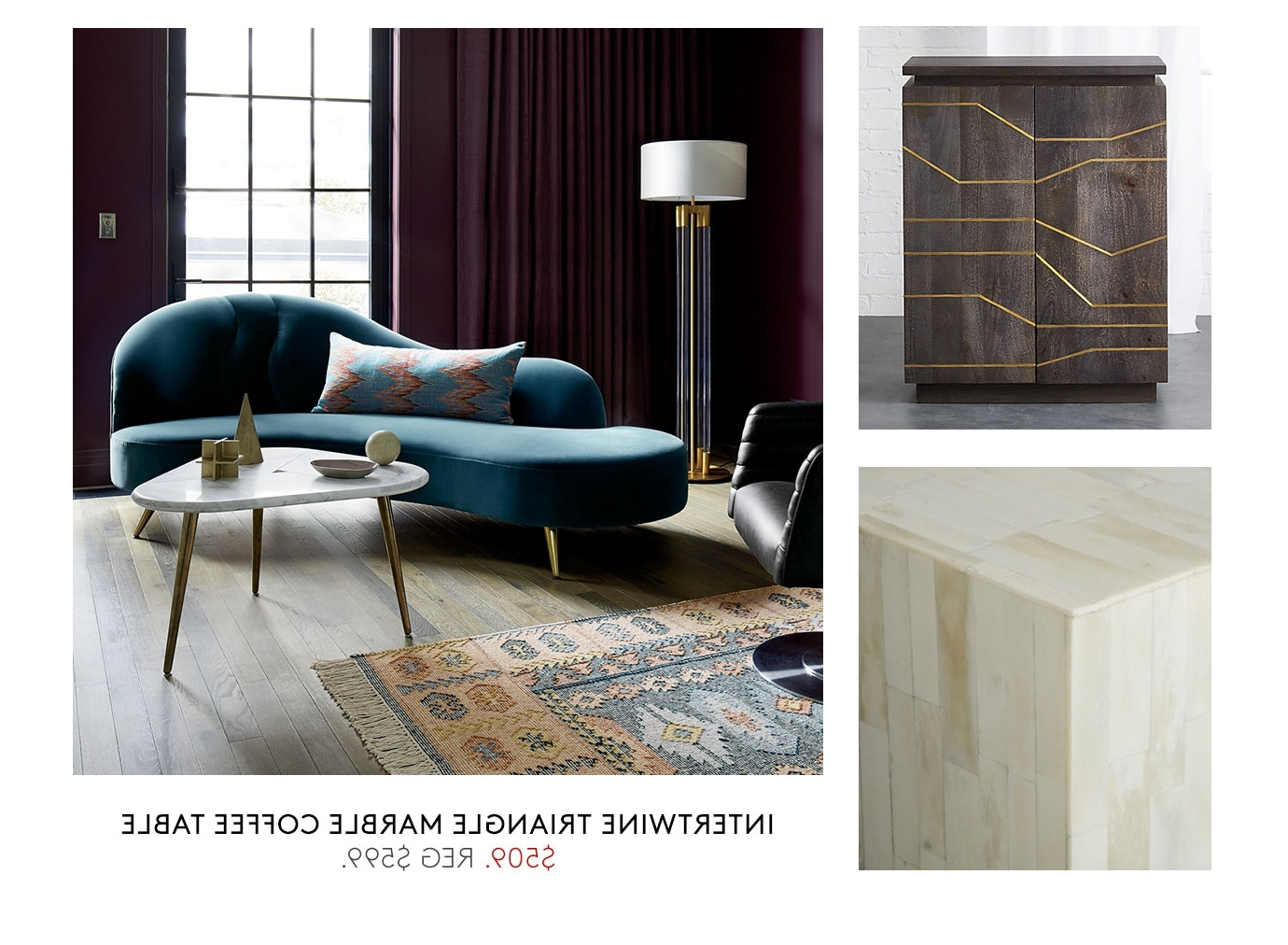 [%widely Used Intertwine Triangle Marble Coffee Tables For Cb2: Up To 20% Off Accent Table Sale Ends Today. | Milled|cb2: Up To 20% Off Accent Table Sale Ends Today (View 16 of 20)