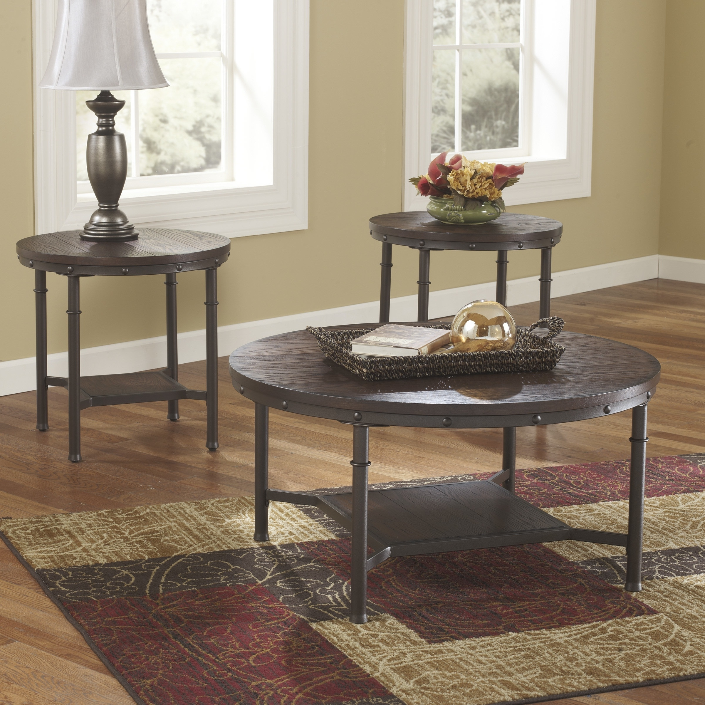 Widely Used Large Slab Marble Coffee Tables With Antiqued Silver Base Regarding Cheap Round Coffee Table Sets Susan 3 Piece Coffee Table Set Round (View 20 of 20)