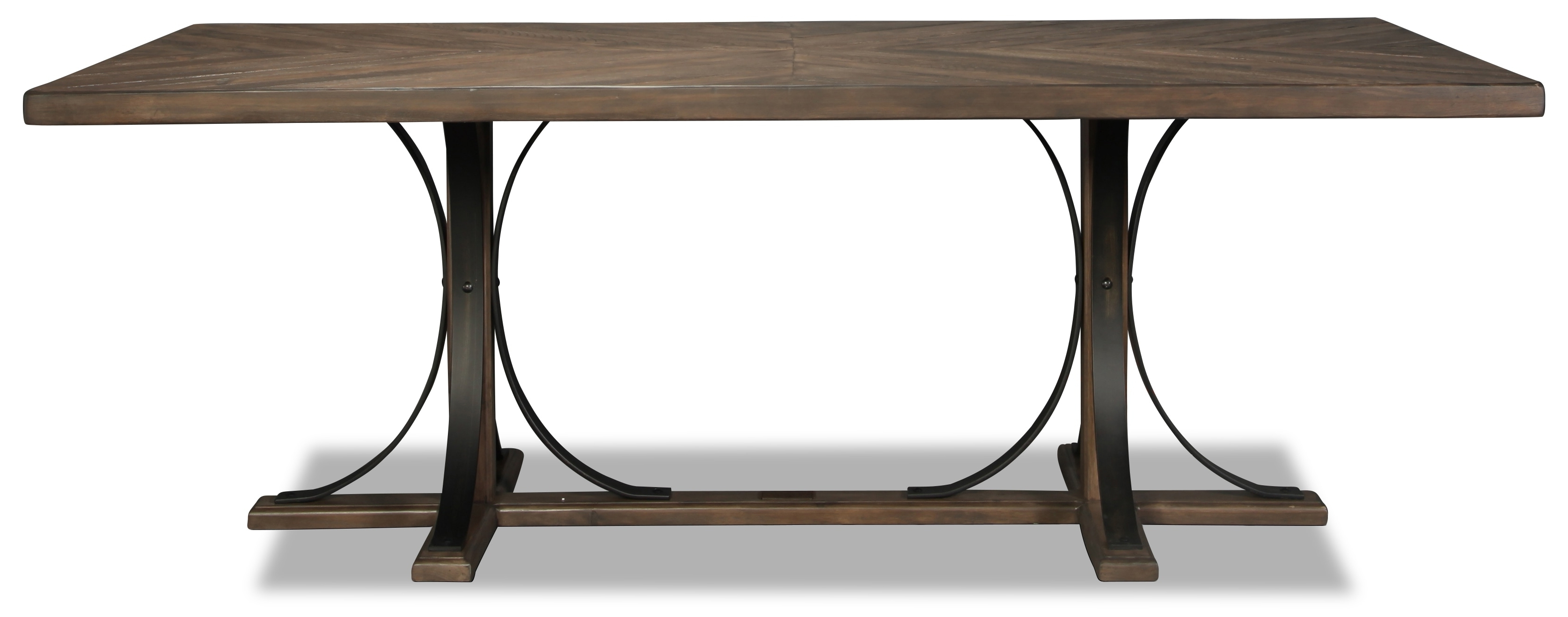 Widely Used Magnolia Home Ellipse Cocktail Tables By Joanna Gaines Within Magnolia Home Traditional Iron Trestle Table (View 12 of 20)