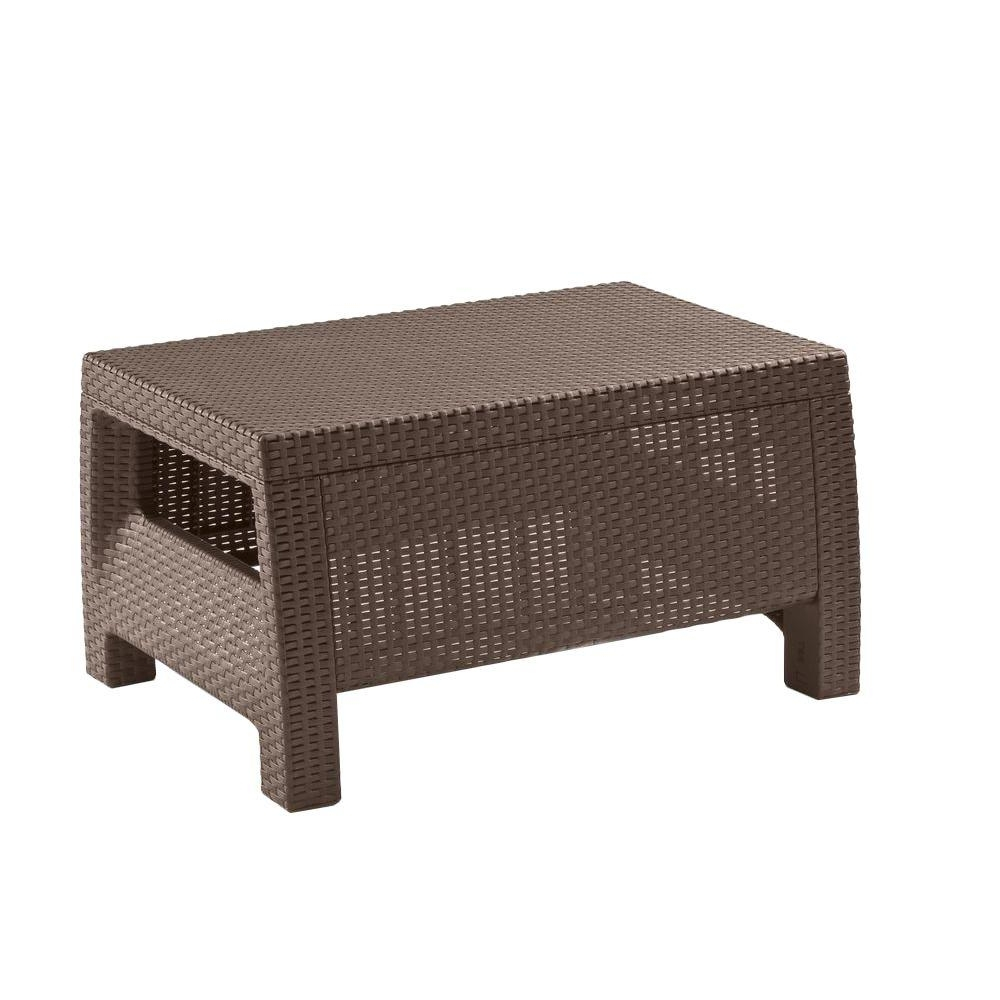 Widely Used Magnolia Home Louver Cocktail Tables Within Keter Corfu Brown All Weather Patio Coffee Table 214722 – The Home Depot (View 19 of 20)