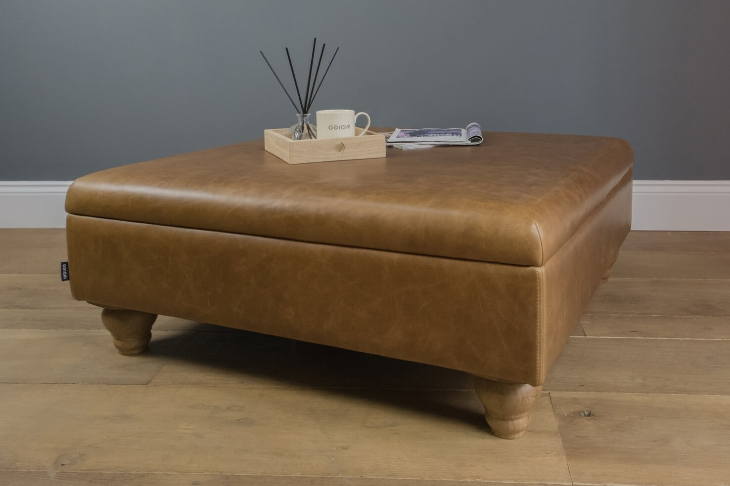 Featured Photo of Mill Large Leather Coffee Tables