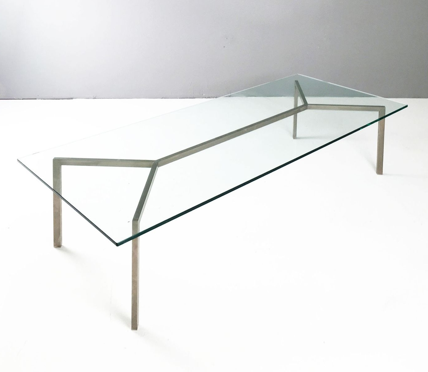 Widely Used Minimalist Coffee Tables Within Minimalist Glass & Chrome Coffee Table, 1960S For Sale At Pamono (View 20 of 20)