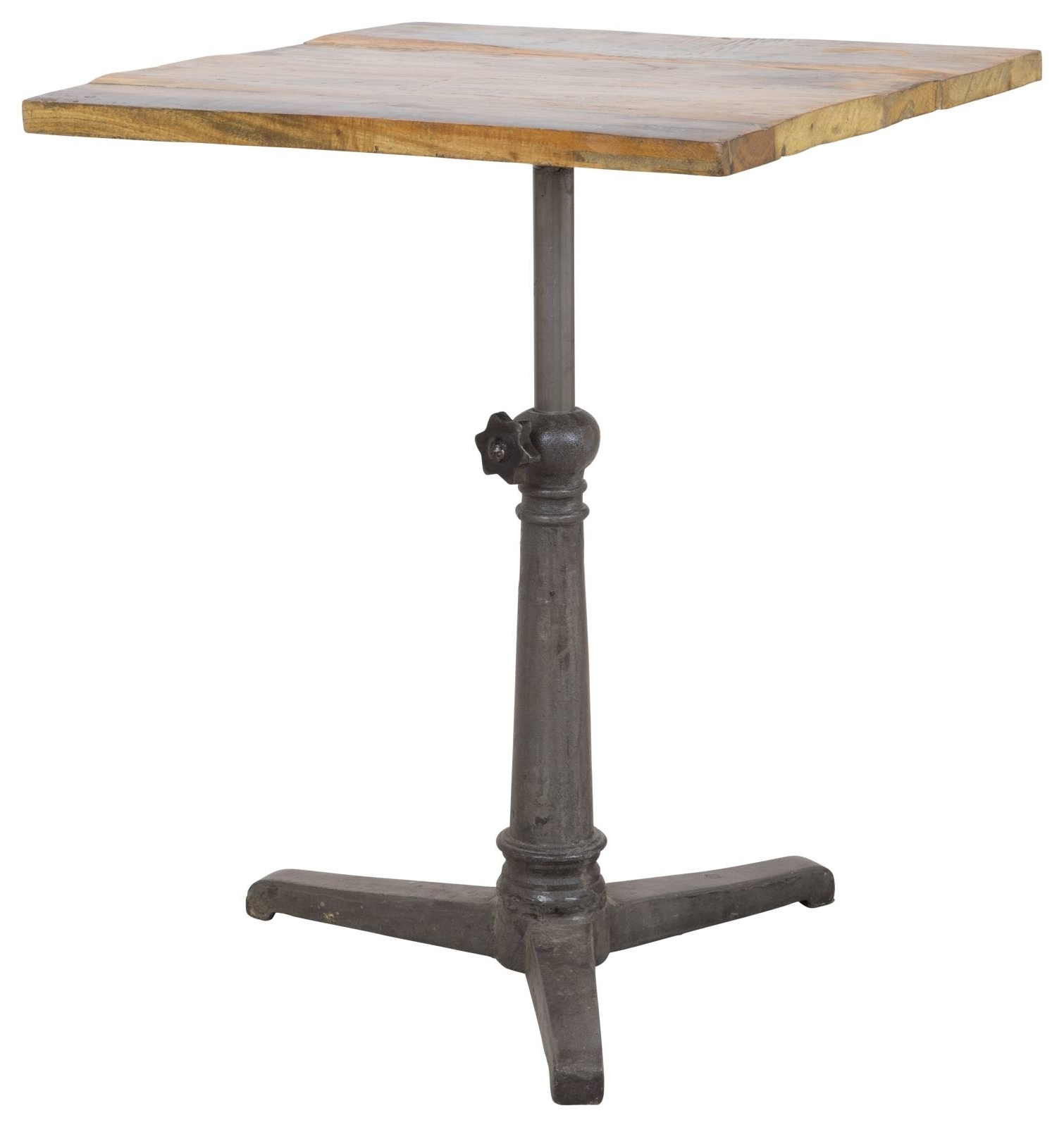 Widely Used Naveen Coffee Tables Pertaining To Small Naveen Reclaimed Wood & Iron Café Table – Rustic – Dining (View 13 of 20)