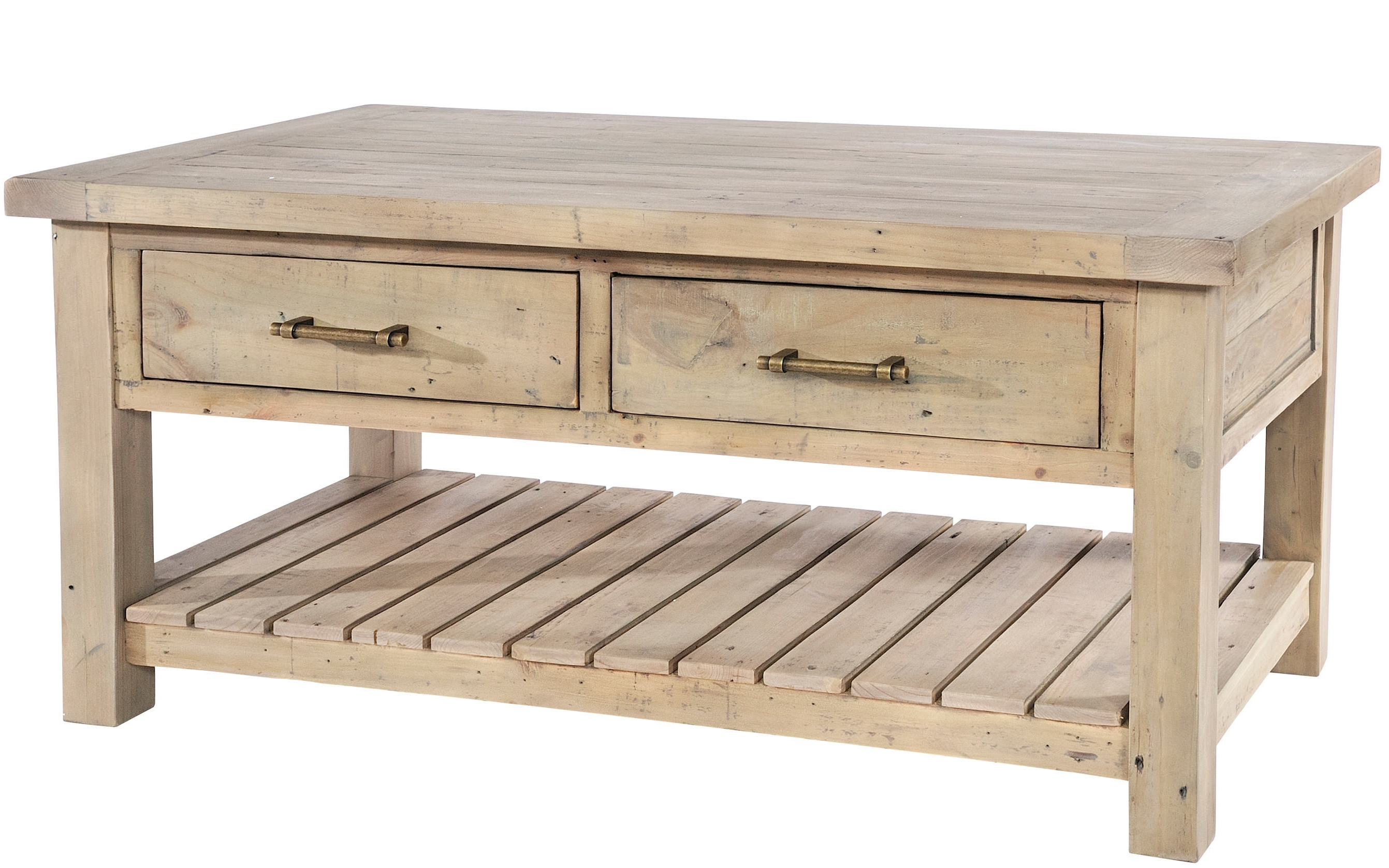 Widely Used Reclaimed Pine Coffee Tables Pertaining To Saltash Reclaimed Pine Coffee Table (View 12 of 20)