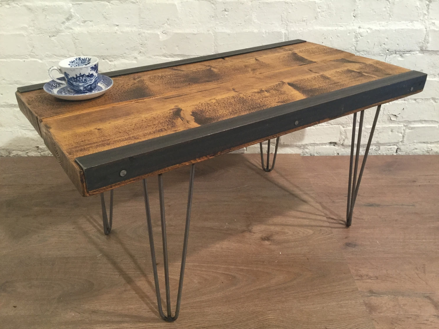 Widely Used Reclaimed Pine & Iron Coffee Tables Intended For English Built Hand Made Solid Reclaimed Pine Plank Industrial Coffee (View 14 of 20)