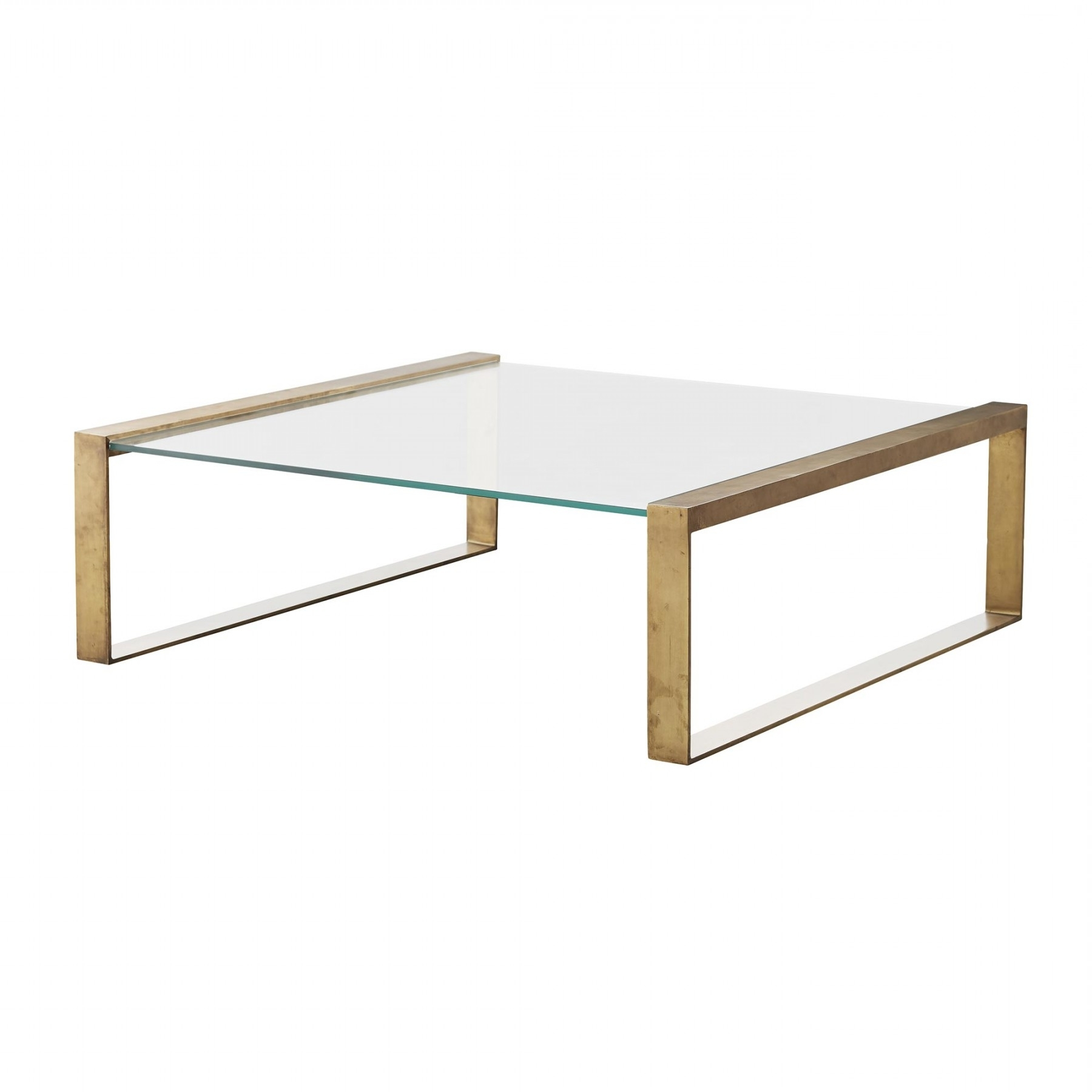 Widely Used Rectangular Brass Finish And Glass Coffee Tables Pertaining To Jocelyn Coffee Table (View 16 of 20)