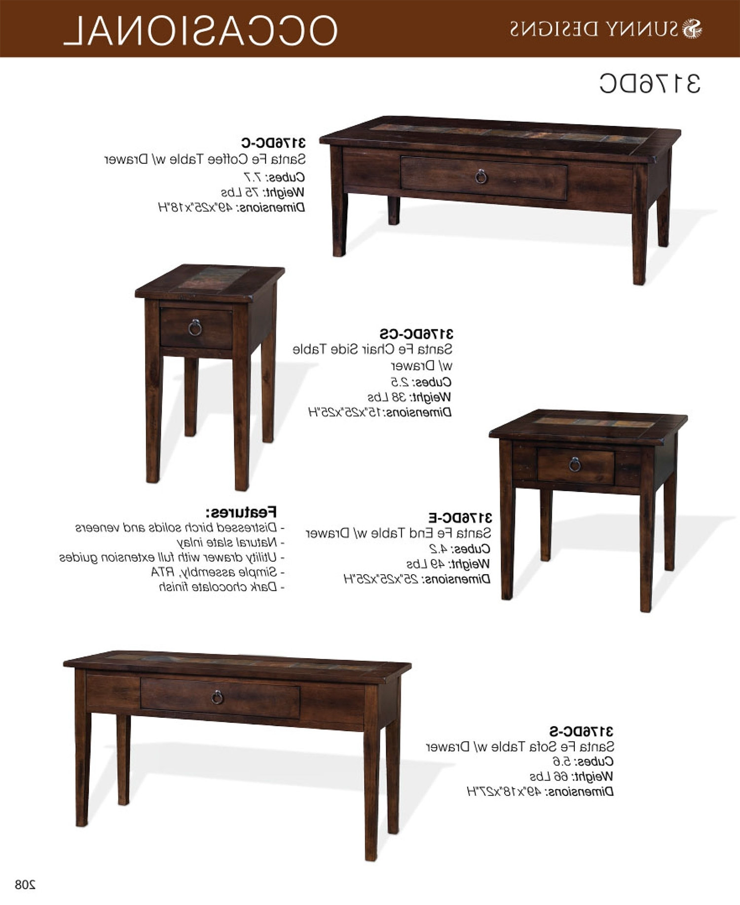 Widely Used Santa Fe Coffee Tables Inside Prices • Sunny Designs Santa Fe Occasional Tables • Al's Woodcraft (View 19 of 20)