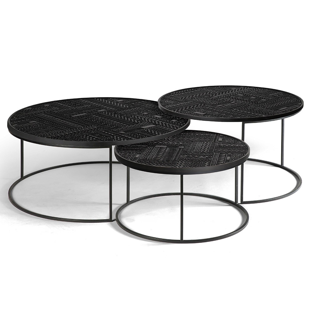 Widely Used Set Of Nesting Coffee Tables Throughout Ancestors Tabwa Round Nesting Coffee Table – Set Of 3 – Rouse Home (View 9 of 20)