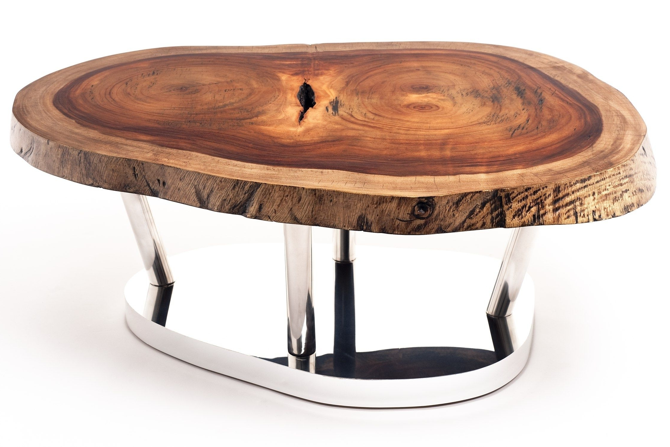 Widely Used Sliced Trunk Coffee Tables In Contemporary Coffee Table / Wooden / In Reclaimed Material (View 19 of 20)